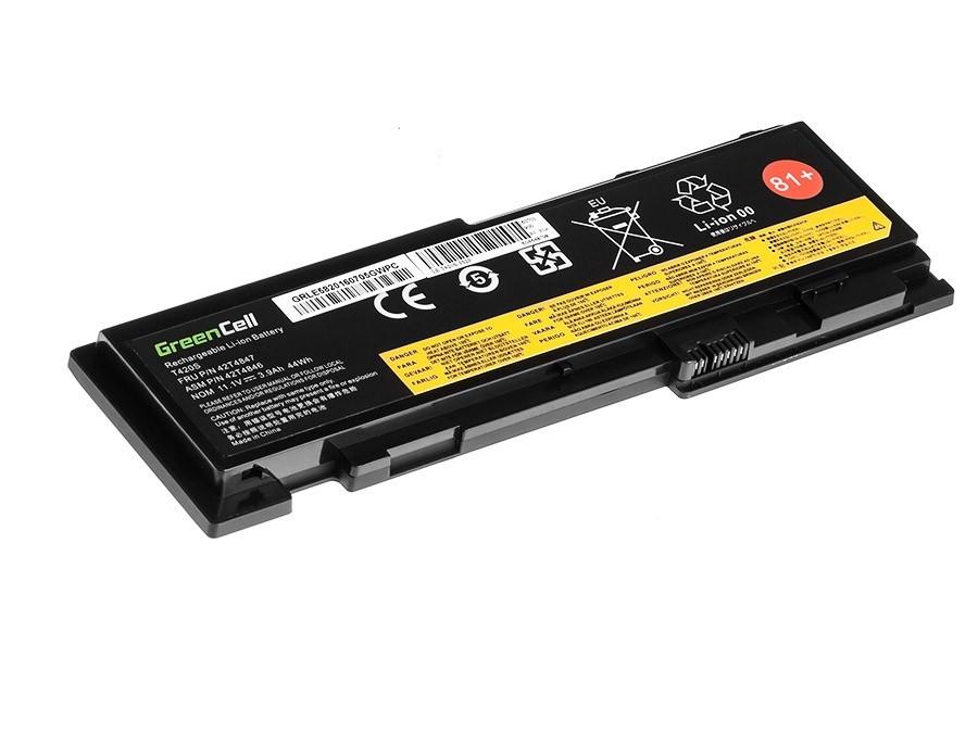 Green Cell Battery for Lenovo ThinkPad T420s T420si / 14,4V 3600mAh