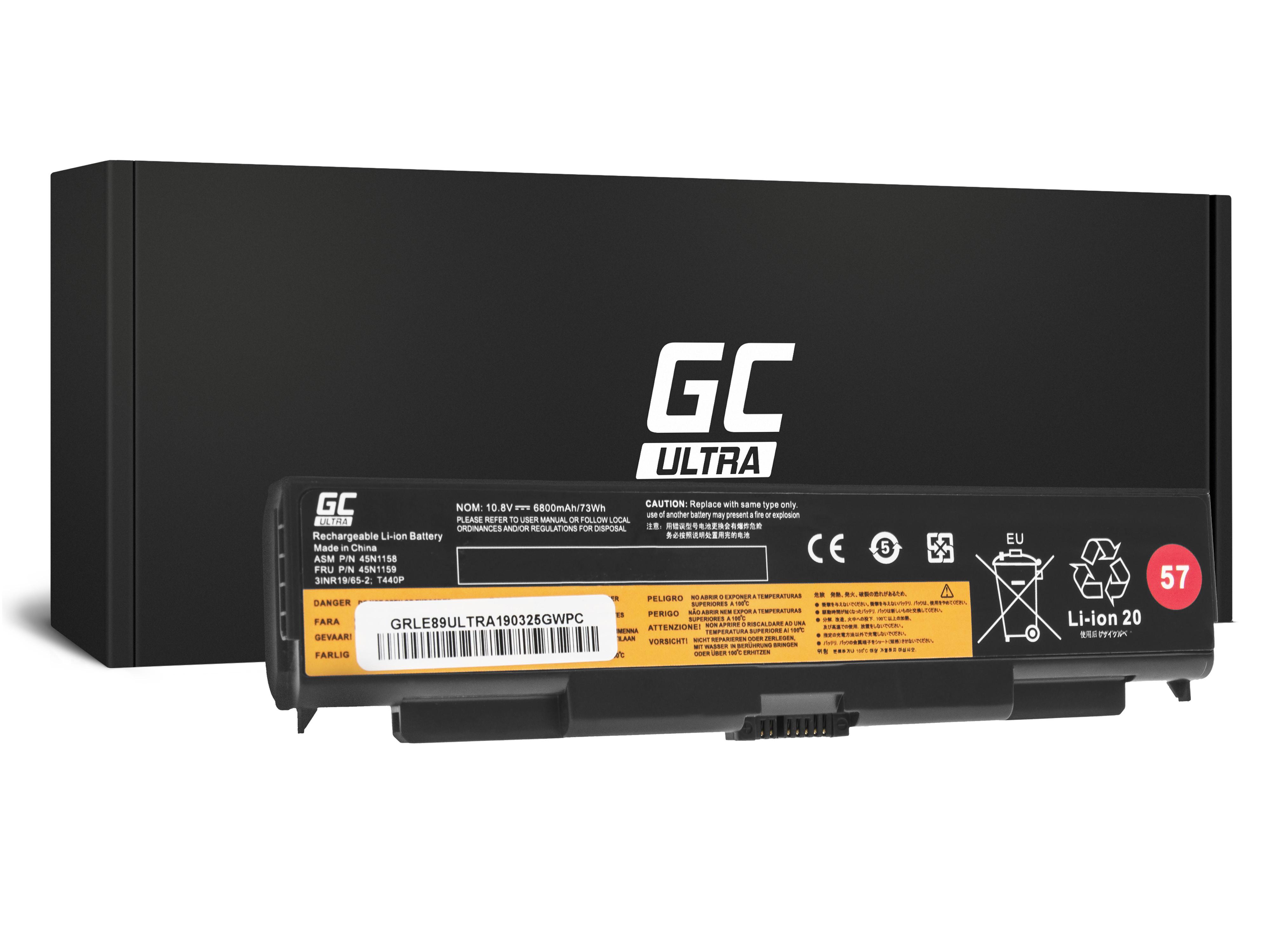 Green Cell LE89ULTRA Baterie Lenovo ThinkPad T440p T540p W540 W541 L440 L540 6800mAh Li-ion - neoriginální