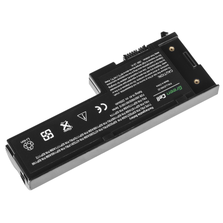 Green Cell Battery for Lenovo ThinkPad X60 X60s X61 X61s / 14,4V 2200mAh