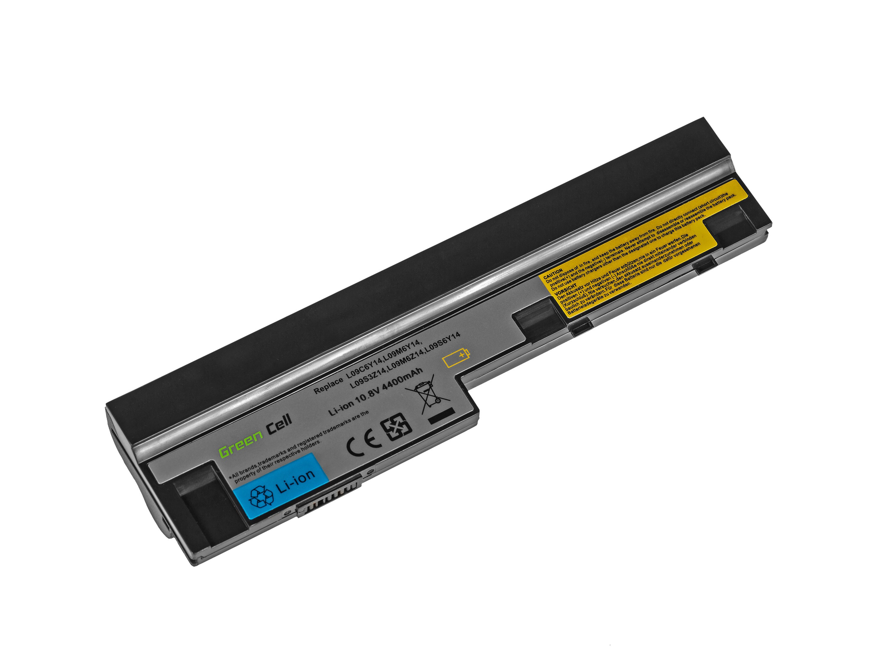 Green Cell Battery for Lenovo IdeaPad S10-3 S10-3c S10-3s S100 S205 U160 U165 / 11,1V 4400mAh