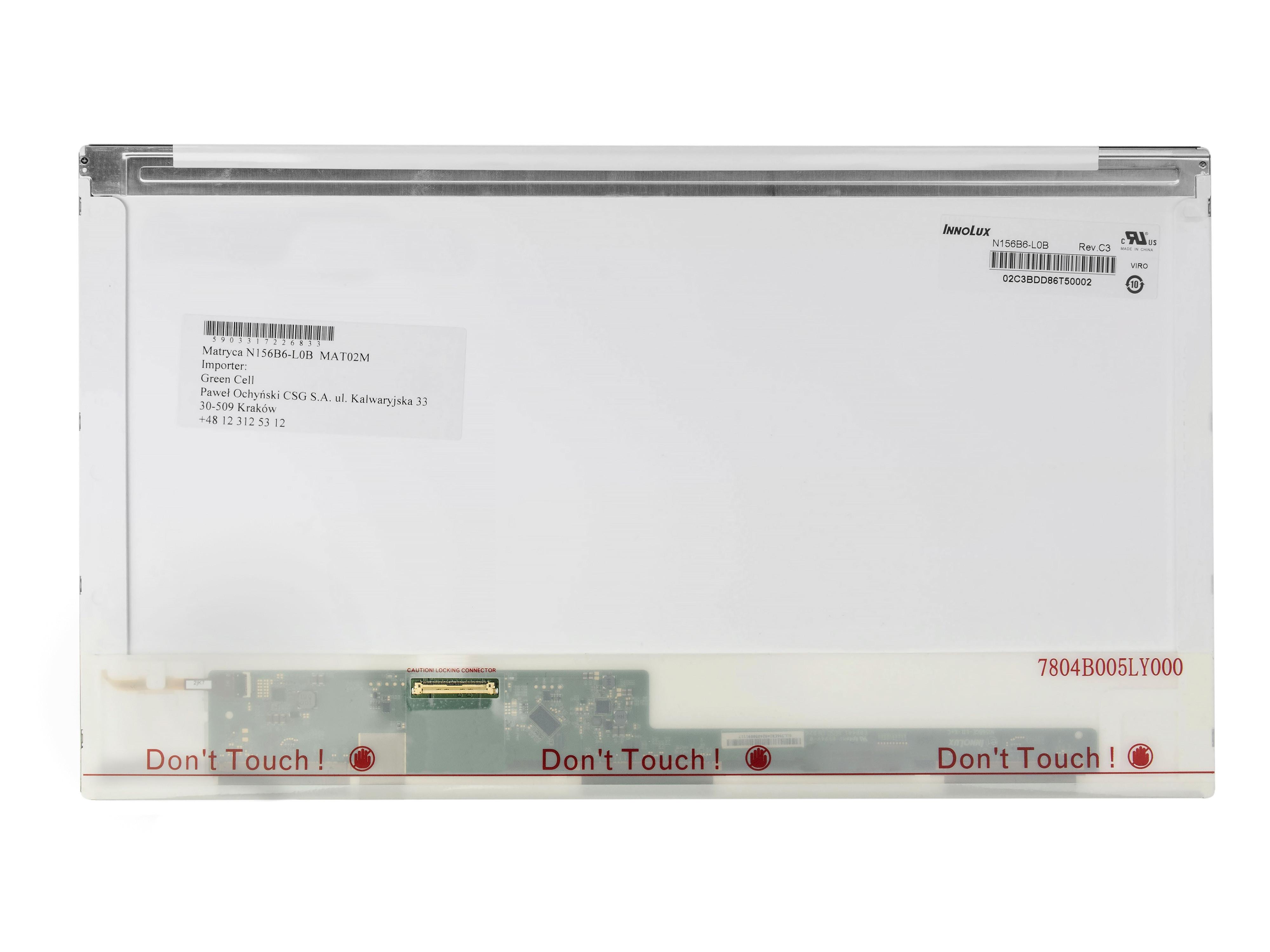 Innolux display N156B6-L0B 15,6 inch, 1366x768 HD, LVDS 40 pin, glossy