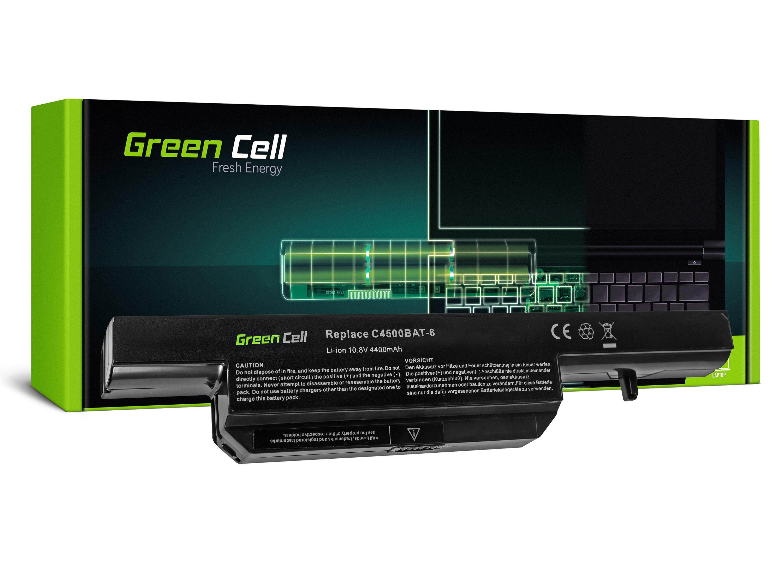 Green Cell Battery for Clevo C4500 C5500 W150 W150ER W170 W170ER W170HR / 11,1V 4400mAh