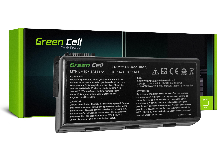 Green Cell MS01 Baterie MSI A6000 CR500 CR600 CR700 CX500 CX600 4400mAh Li-ion - neoriginální