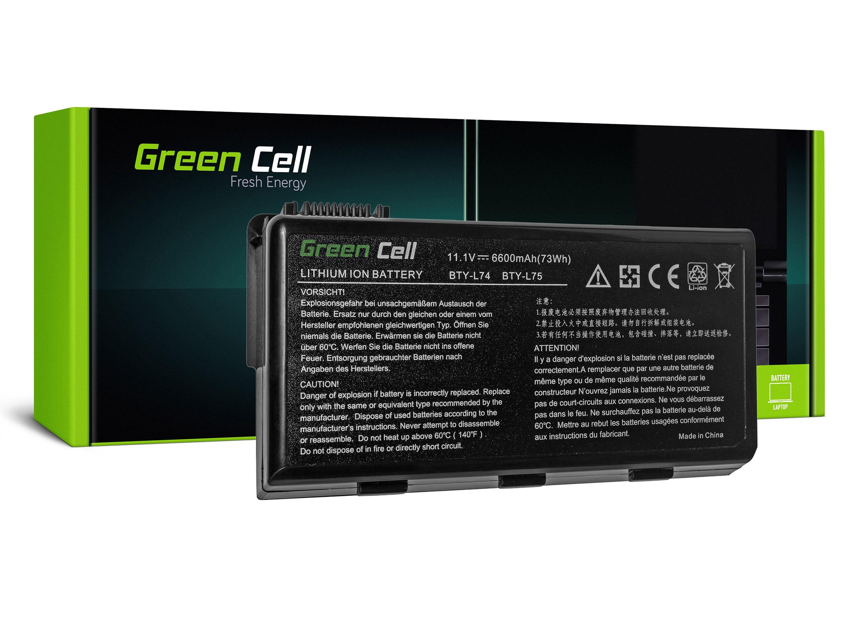 Green Cell MS02 Baterie MSI A6000 CR500 CR600 CR700 CX500 CX600 6600mAh Li-ion - neoriginální