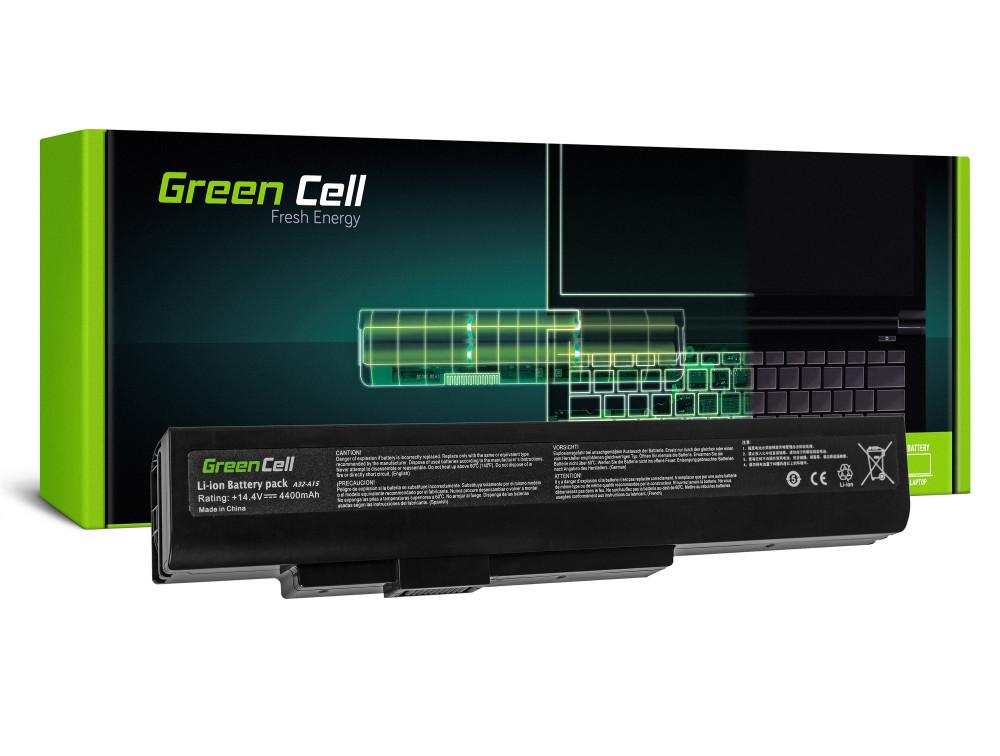 Green Cell akkumulátor a MSI A6400 CR640 CX640 MS-16Y1 / 14,4V 4400mAh