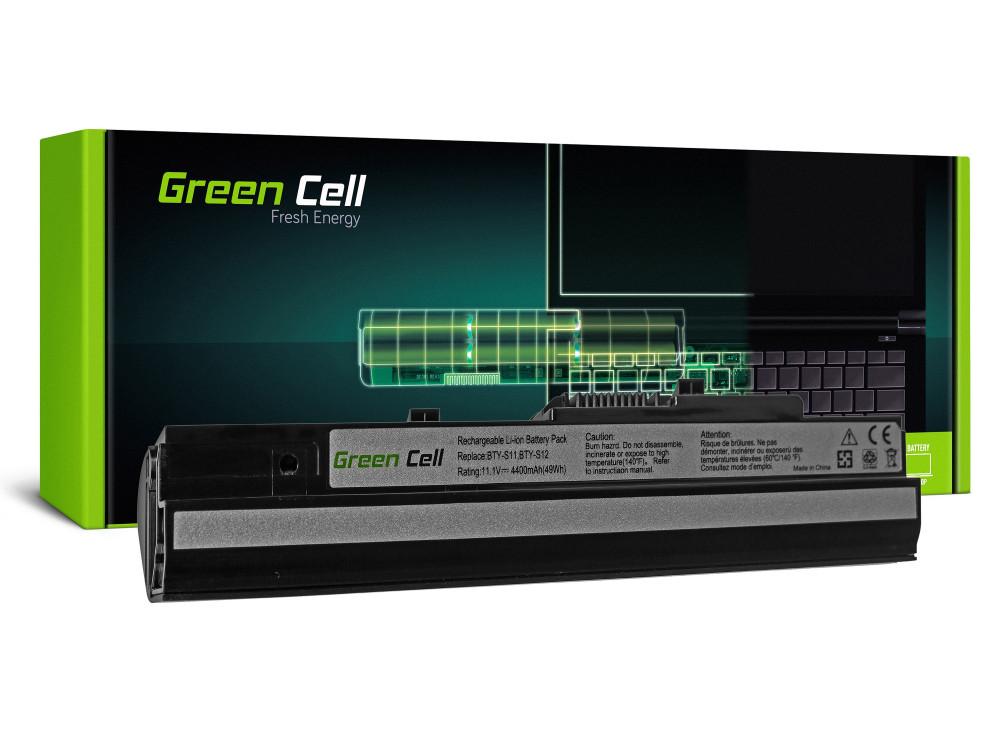 Green Cell akkumulátor MSI Wind U91 L2100 L2300 U210 U120 U115 U270 (fekete) / 11,1V 4400mAh