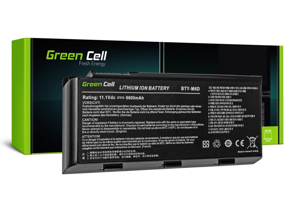 Green Cell akkumulátor MSI GT60 GT70 GT660 GT680 GT683 GT780 GT783 GX660 GX680 GX780 / 11,1V 6600mAh