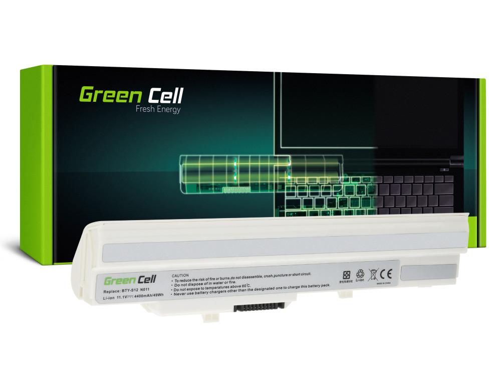 Green Cell akkumulátor MSI Wind U91 L2100 L2300 U210 U120 U115 U270 (fehér) / 11,1V 4400mAh