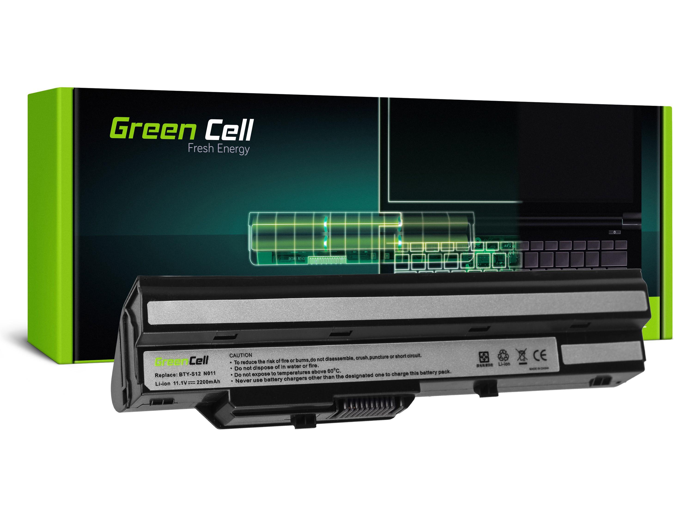 Green Cell MS13 Baterie MSI Wind U90 U100 U110 U120 U130 U135 U135DX U200 U250 U270 2200mAh Li-ion - neoriginální