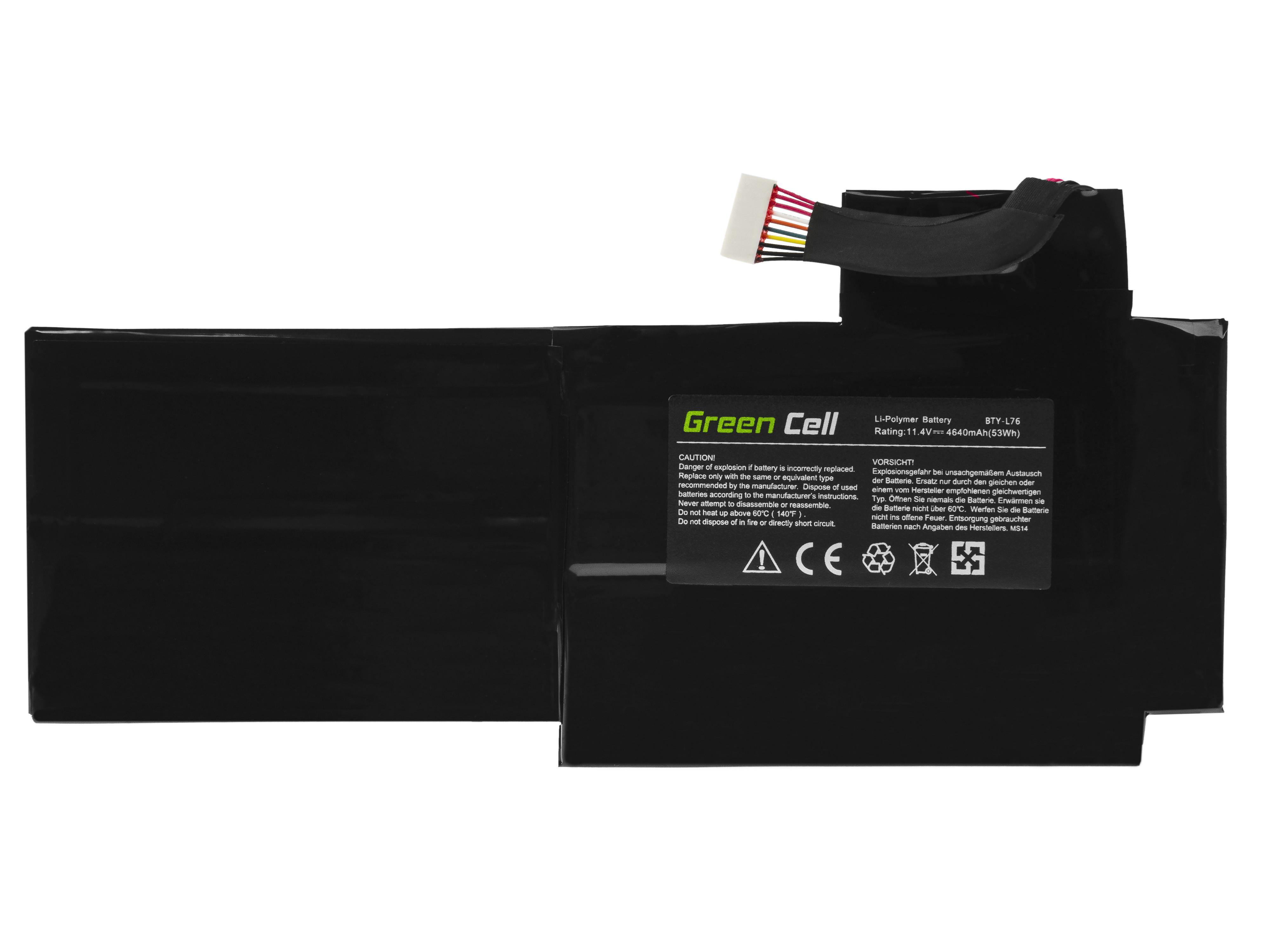 Green Cell MS14 Baterie MSI BTY-L76,MSI GS70 GS72 WS72 4640mAh Li-Pol – neoriginální