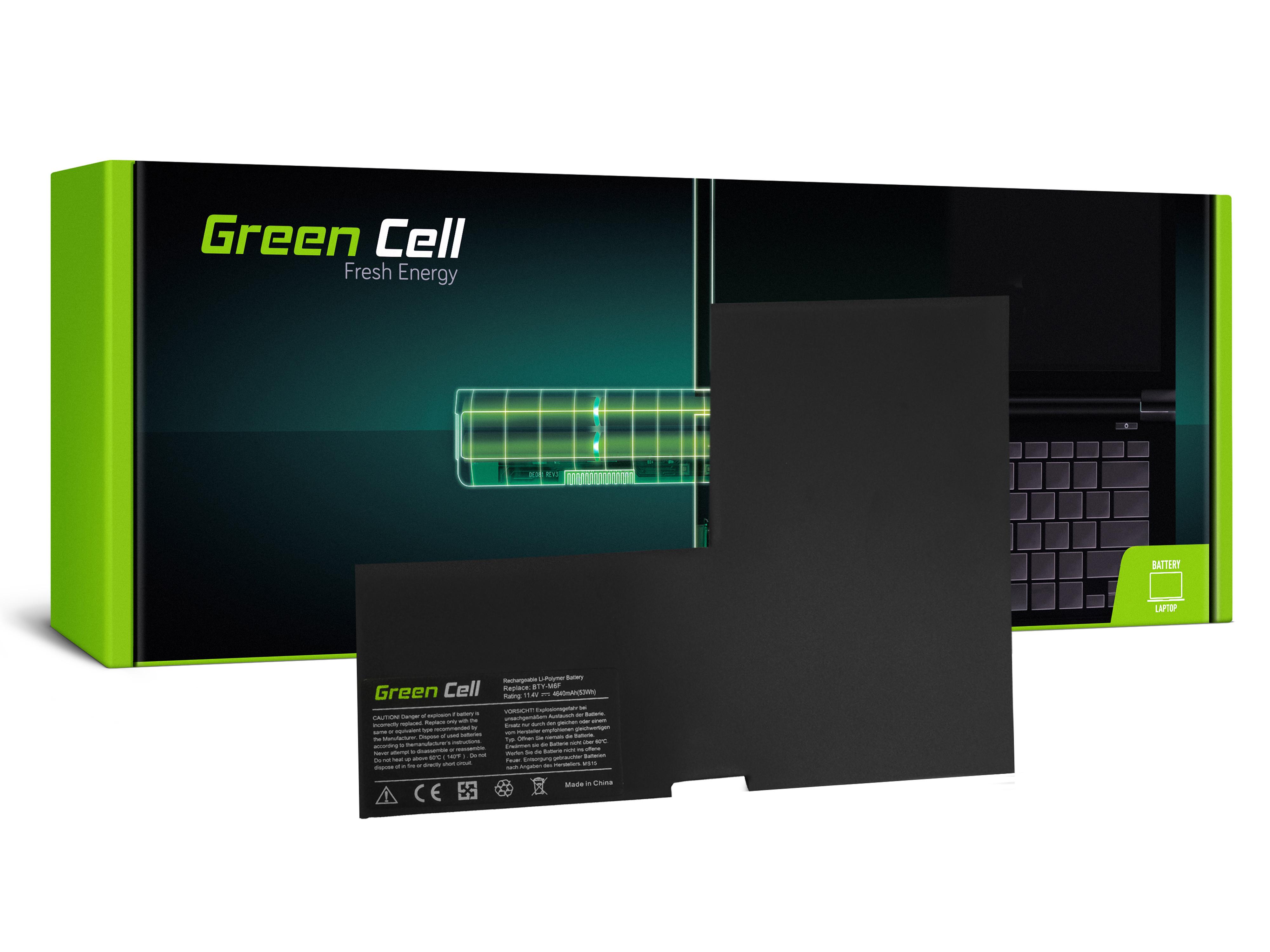 Green Cell MS15 Baterie MSI BTY-M6F,MSI GS60 PX60 WS60 4640mAh Li-Pol – neoriginální