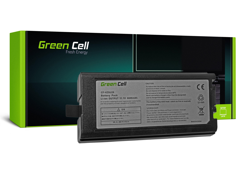 Green Cell Battery for Panasonic CF29 CF51 CF52 / 11,1V 6600mAh
