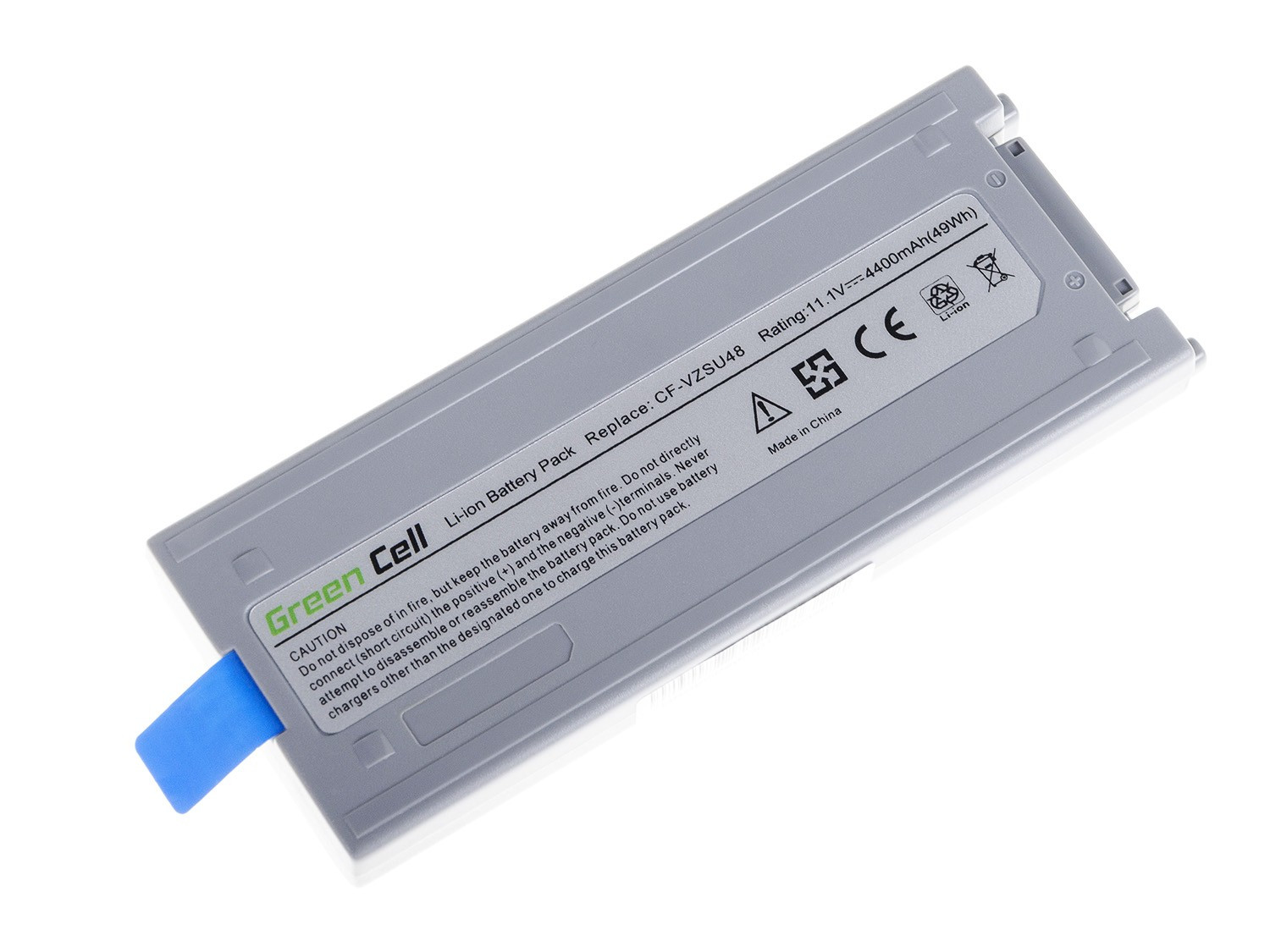 Green Cell Battery for Panasonic Toughbook CF-19 (grey) / 11,1V 4400mAh