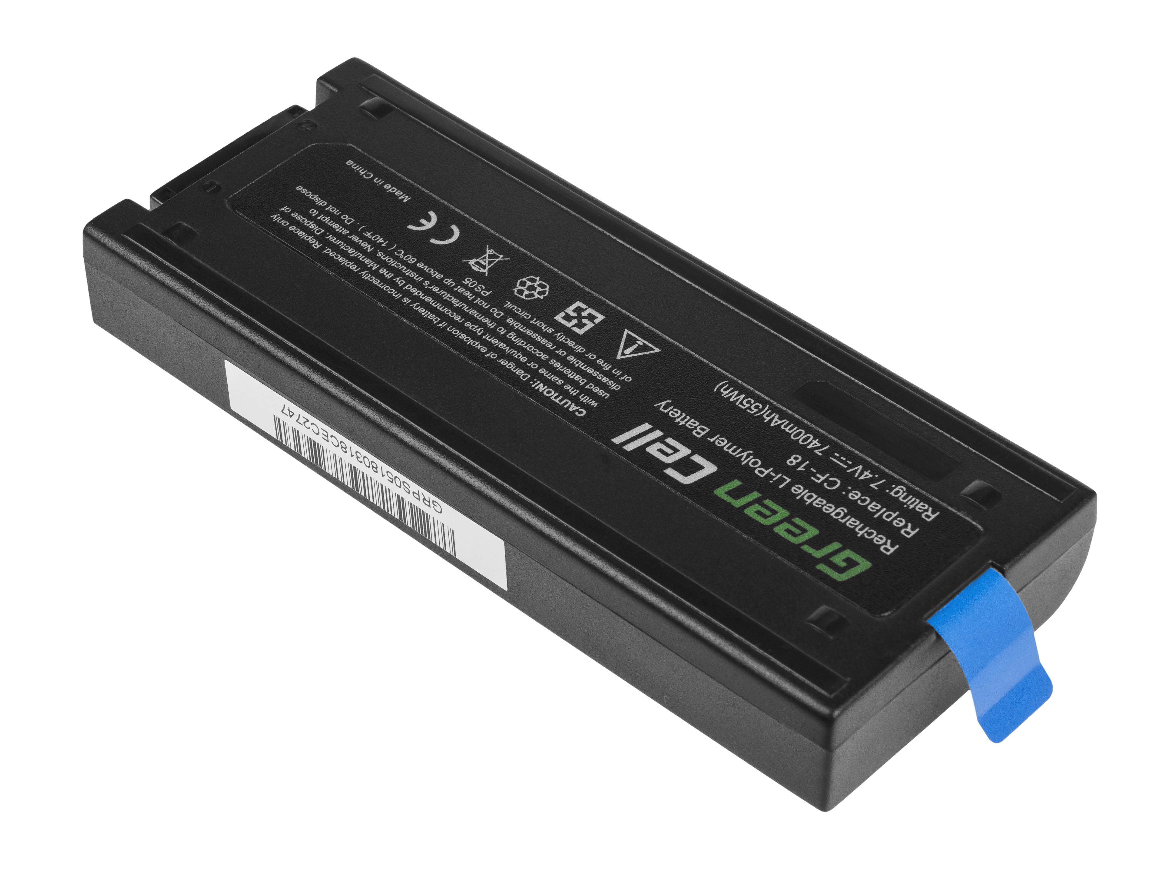 Green Cell PS05 Baterie Panasonic CF29 CF51 CF52 6600mAh Li-Pol - neoriginální