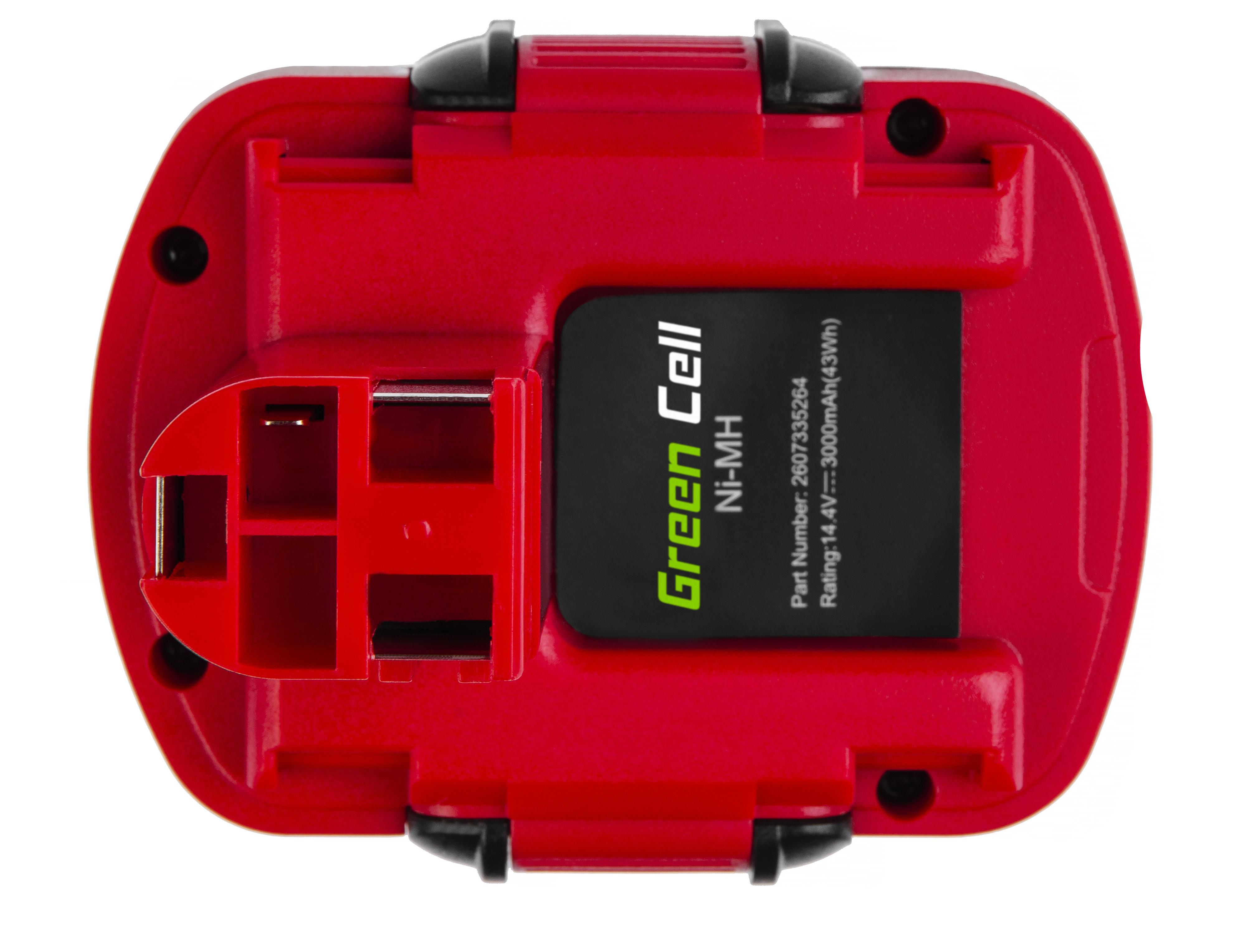 Baterie Green Cell Bosch O-Pack GSR 14,4VE-2 PSR 14,4 PSB 14,4VE-2 14.4V 3000mAh Ni-MH – neoriginální