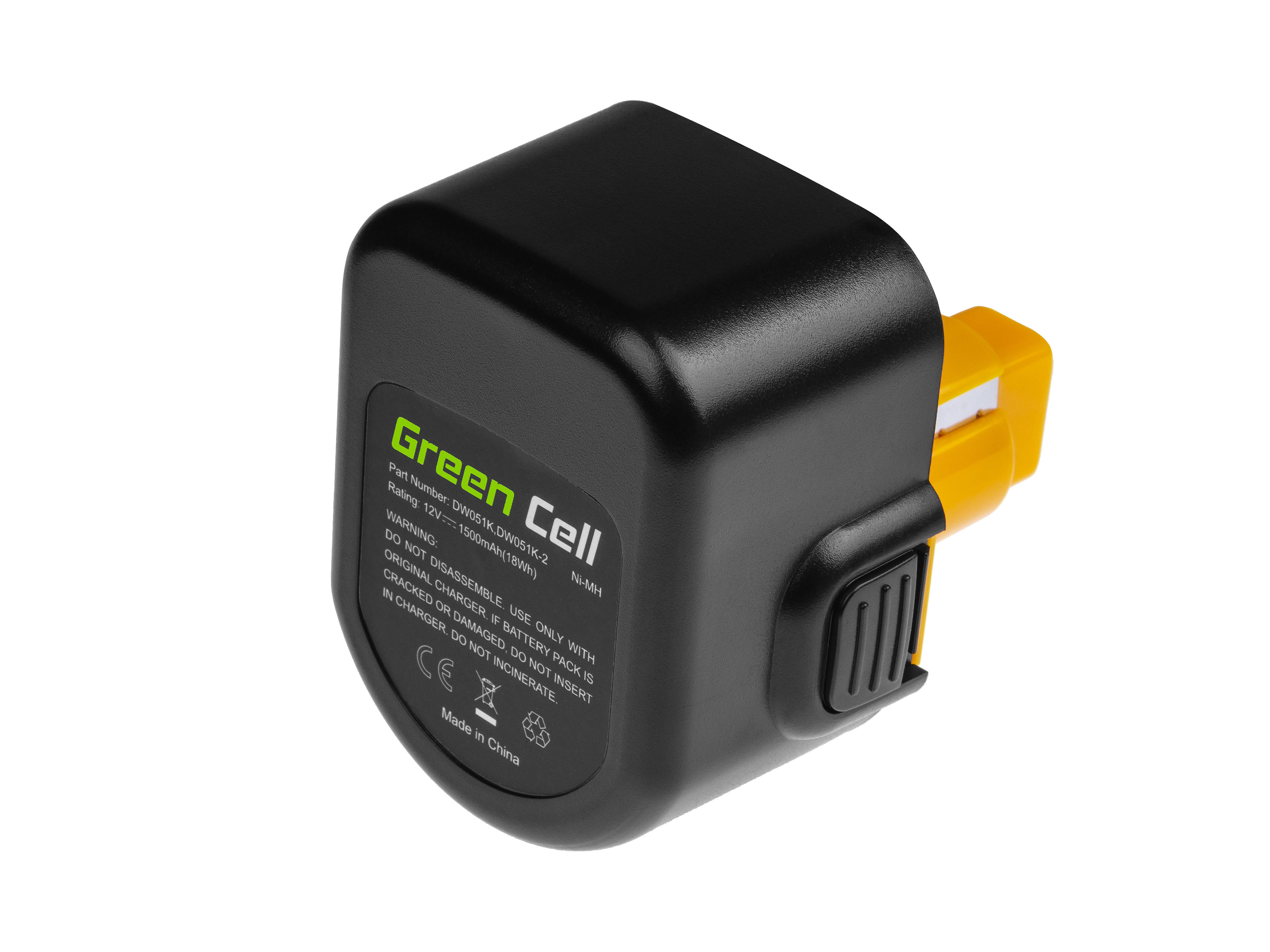 Baterie Green Cell DeWalt DE9037 DE9071 DE9074 12V 1500mAh Ni-MH – neoriginální
