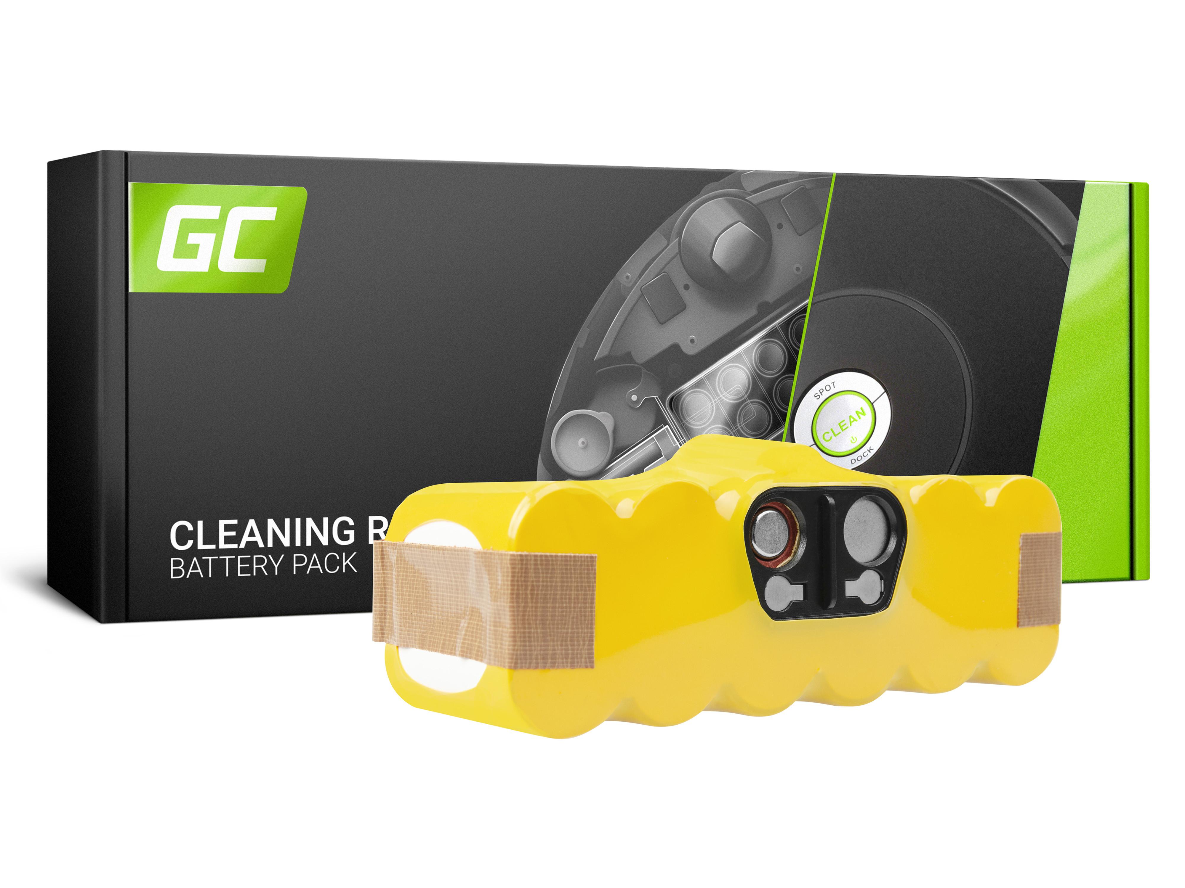 Baterie Green Cell iRobot Roomba 80501 510 530 540 550 560 570 580 610 620 625 760 770 780 14.4V 3000mAh Ni-MH – neoriginální