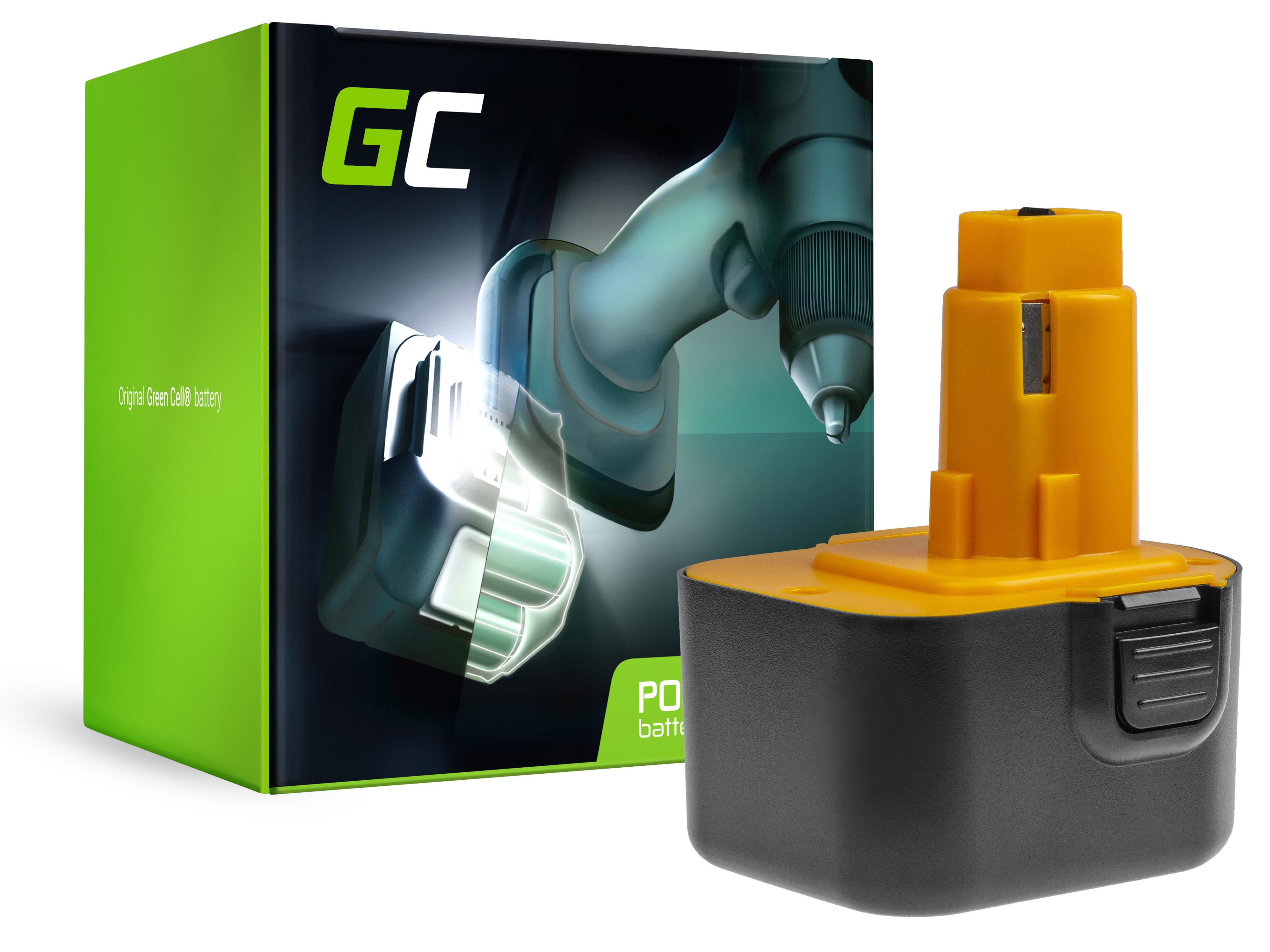 Baterie Green Cell DeWalt DE9037 DE9071 DE9074 12V 3000mAh Ni-MH – neoriginální