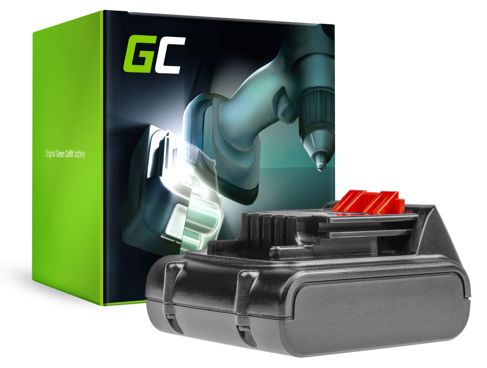Green Cell Power Tool akkumulátor Black & Decker BL1114 14,4 2Ah