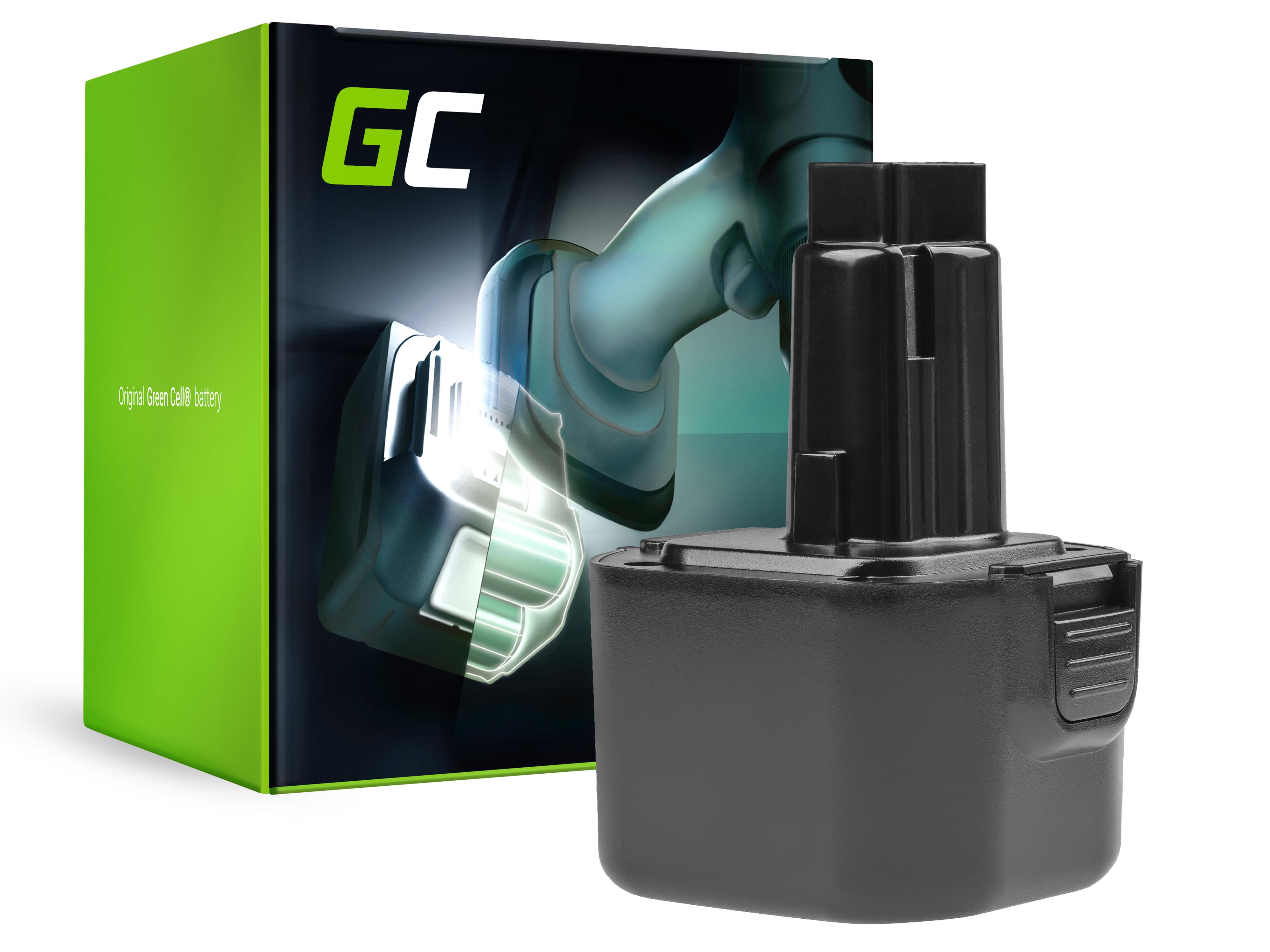 Green Cell Power Tool Battery for Dewalt DE9036 DE9061 9.6V 2Ah