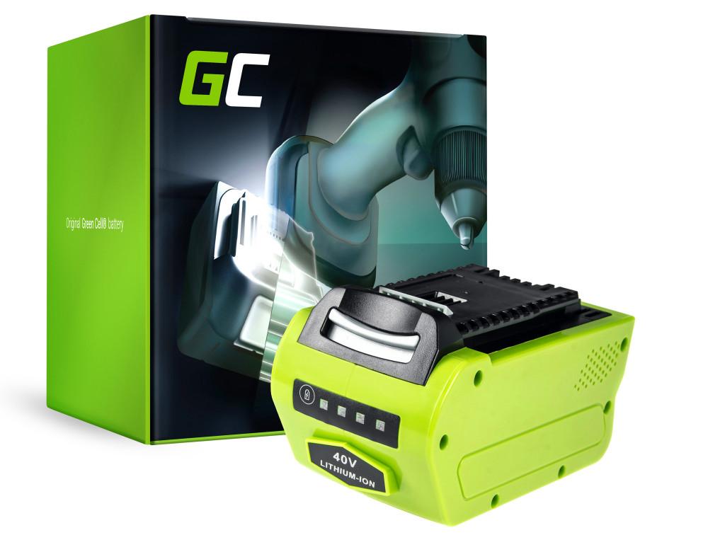 Green Cell Power Tool akkumulátor Greenworks 2601102 G-MAX 40V 4Ah