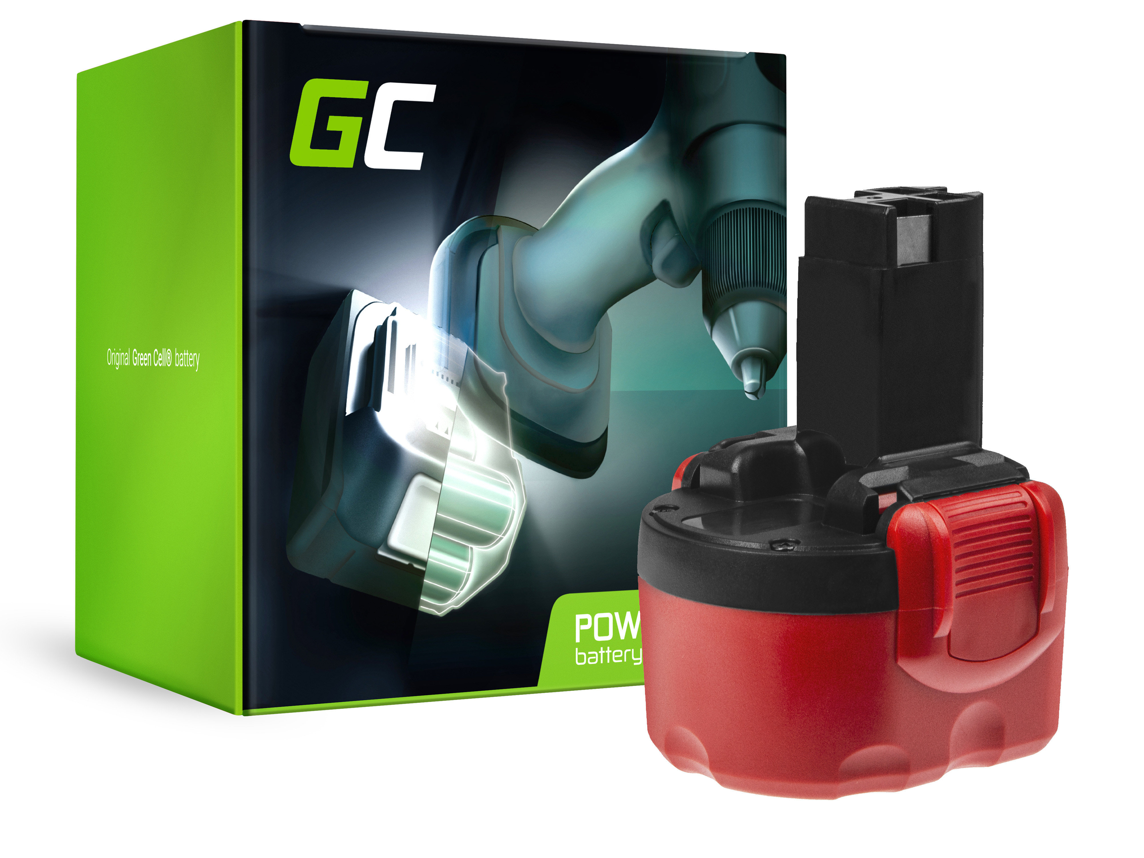 Baterie Green Cell Bosch O-Pack GSR 9.6VE2 PSR 9.6VE-2 9.6V 3000mAh Ni-MH – neoriginální