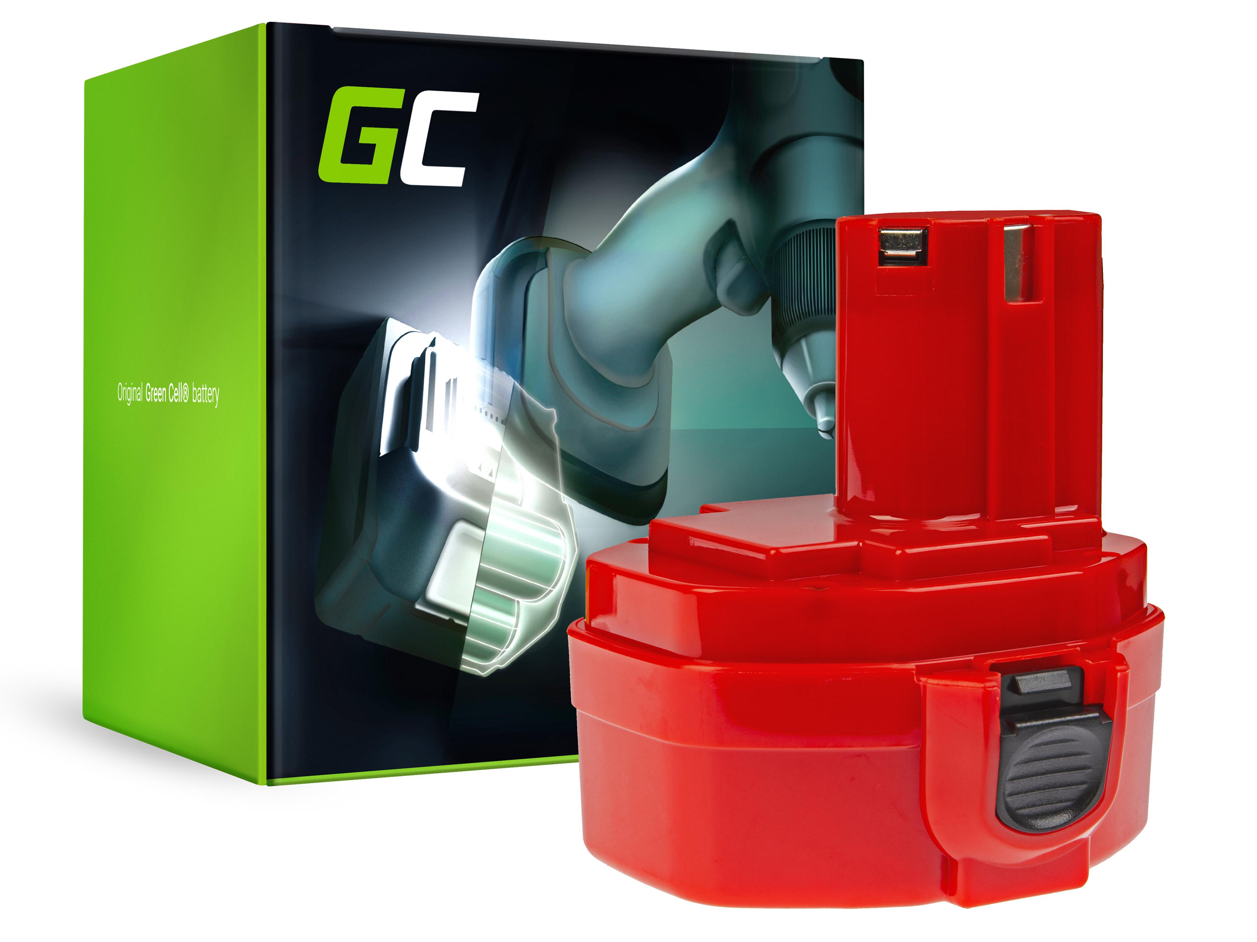 Baterie Green Cell Makita 1420 1433 1434 4033D 4332D 6228D 6337D 14.4V 3000mAh Ni-MH – neoriginální