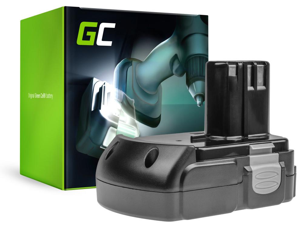 Green Cell Power Tool akkumulátor Hitachi BCL1830 BCL1815 EBM1830 327730 18V 2.5Ah