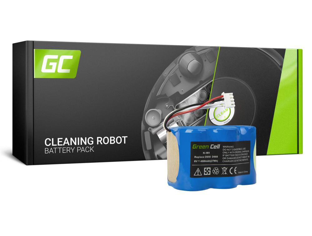 Green Cell Power Tool akkumulátor Ecovacs D66 D68 D73 D76 D650 D660 D680 D710 D720 D730 D760 6V 4.5Ah