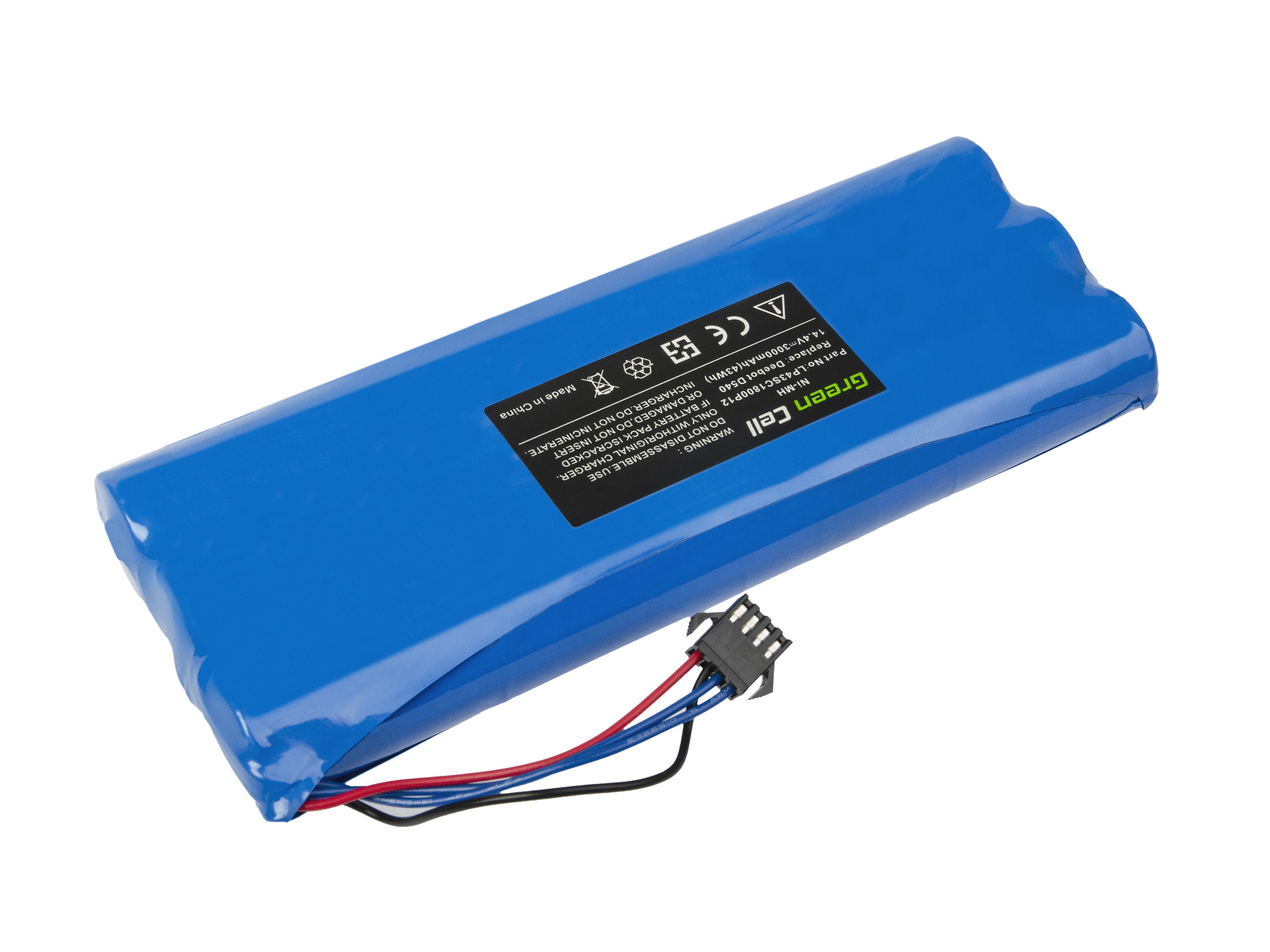 Baterie Green Cell Ecovacs Deebot D523 D540 D550 D560 D570 D580 14.4V 3000 mAh Ni-MH – neoriginální