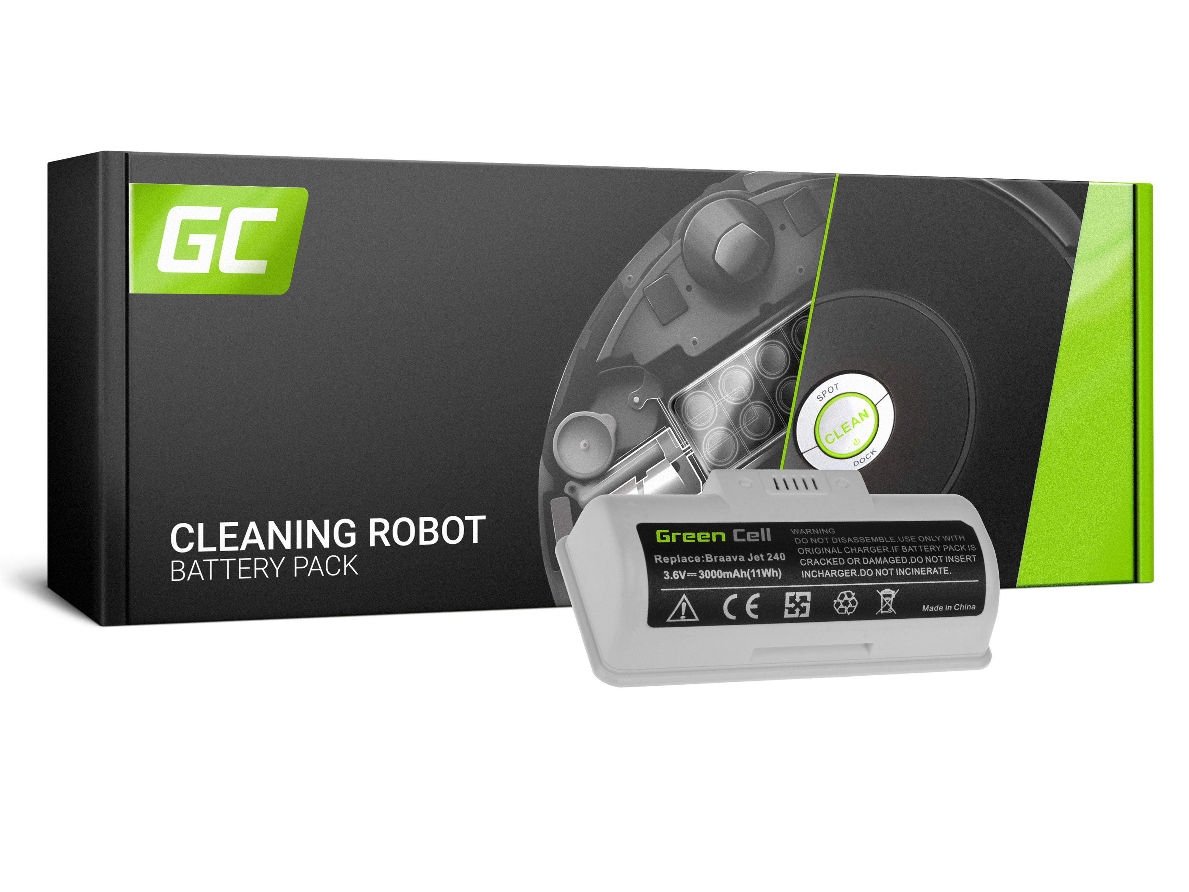 Green Cell Power Tool Battery iRobot Braava Jet 240 BC674 4446040 3.6V 3Ah