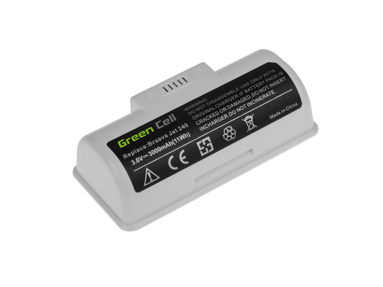 Green Cell Baterie iRobot Braava Jet 240 BC674 4446040 3.6V 3Ah