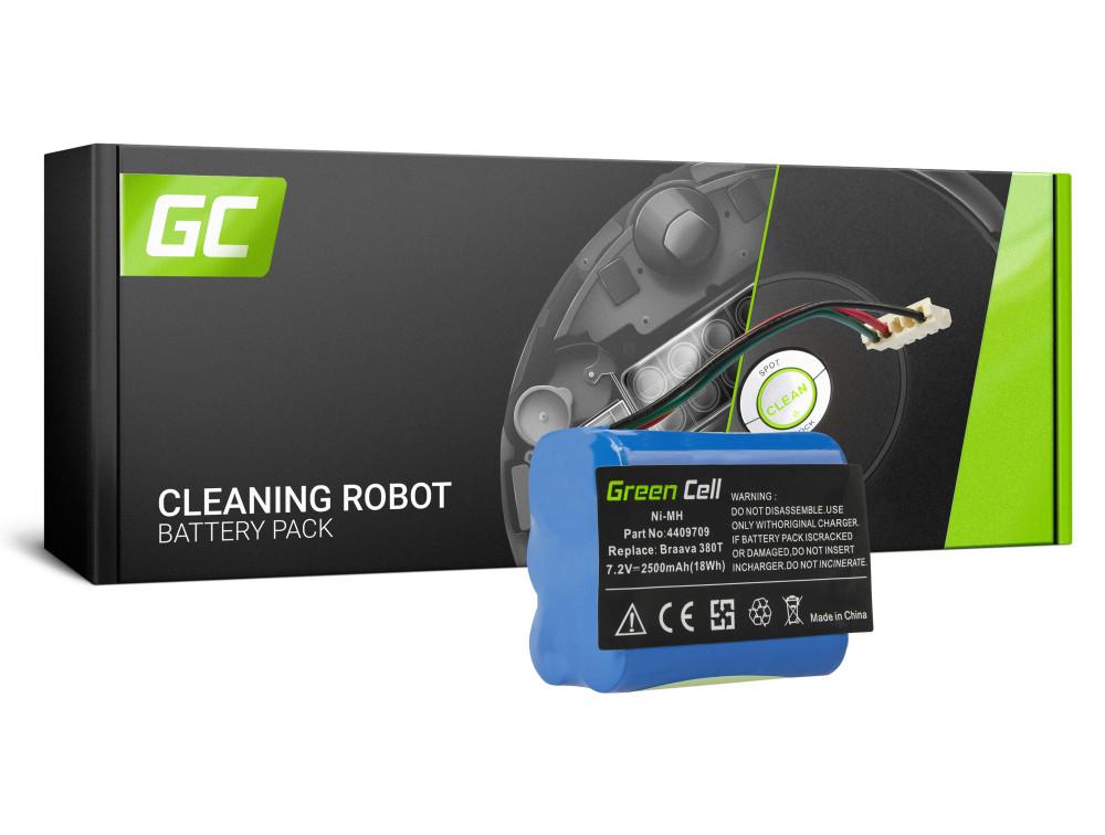 Green Cell Power Tool akkumulátor iRobot Braava / menta 380 380T 5200 5200B 5200C Plus 7.2V 2.5Ah
