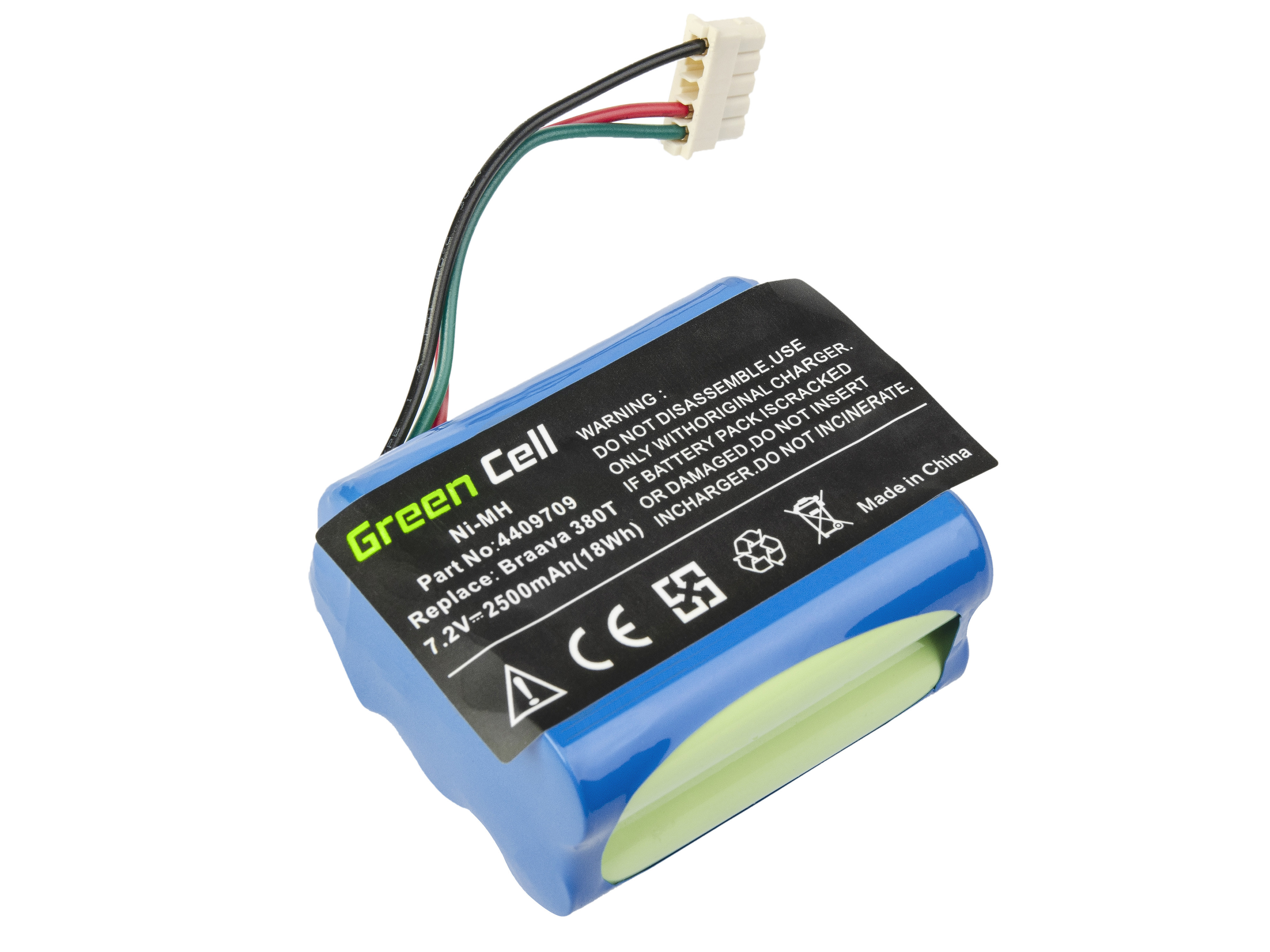 Green Cell Power Tool Battery iRobot Braava / Mint 380 380T 5200 5200B 5200C Plus 7.2V 2.5Ah
