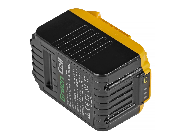 Baterie Green Cell DeWalt DCB140 DCB141 DCB142 DCB140-XJ DCB141-XJ 14.4V 6000mAh Li-ion - neoriginální