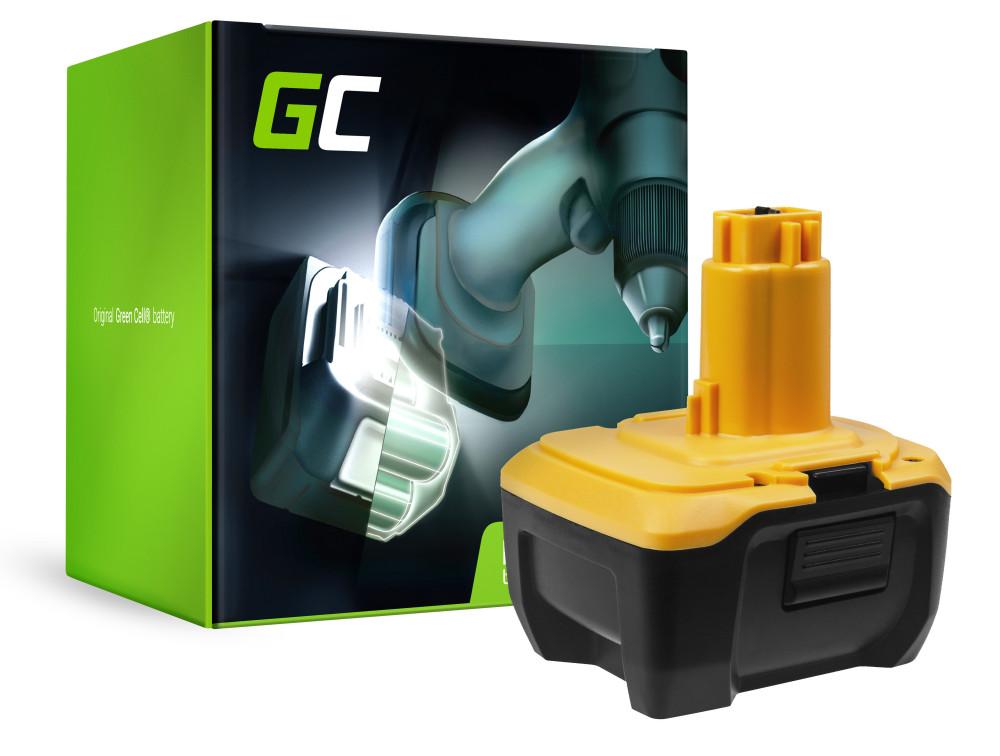 Green Cell Power Tool akkumulátor DeWalt DE9141 DE9140 DC737KL DC733KL DC733C2 14,4 3Ah