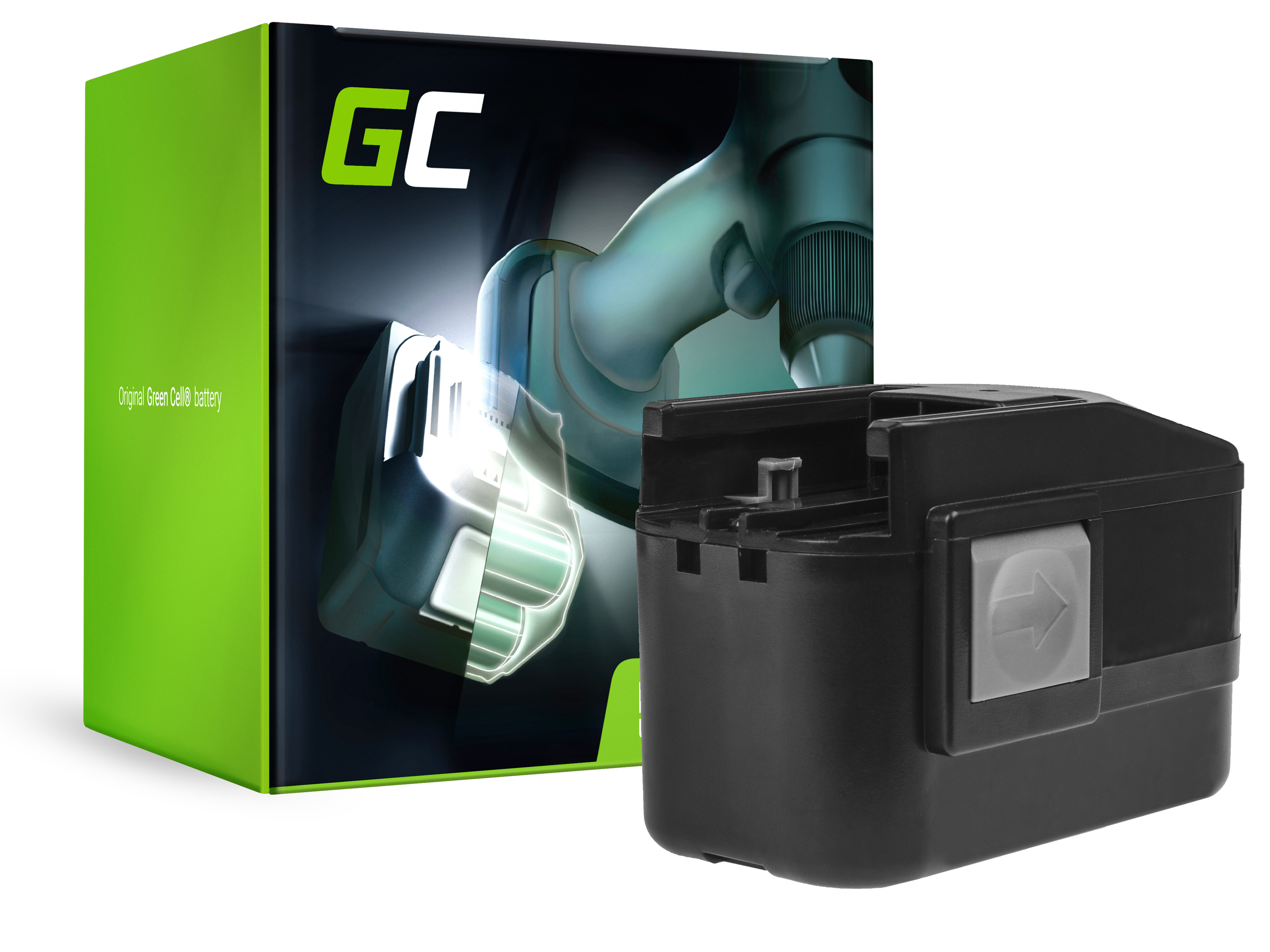 Green Cell Power Tool Battery 4932373540, 4932373541 AEG BBM 14 STX, BS 14 X, BSB 14 STX, AEG SB2E 14 STX 14.4V 3.3Ah