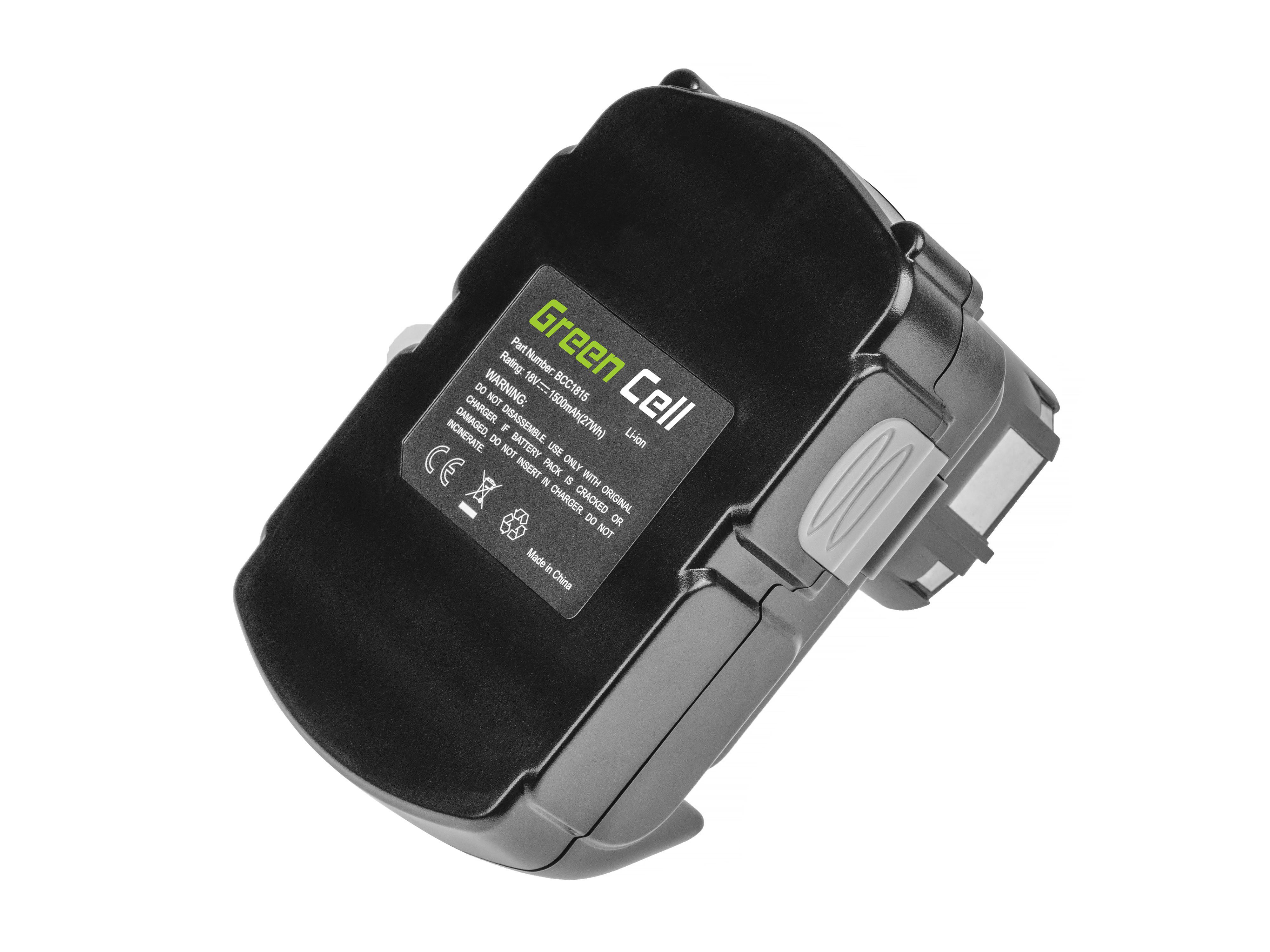 Baterie Green Cell Hitachi BCL1815 C18DL 18V 1500mAh Li-ion - neoriginální