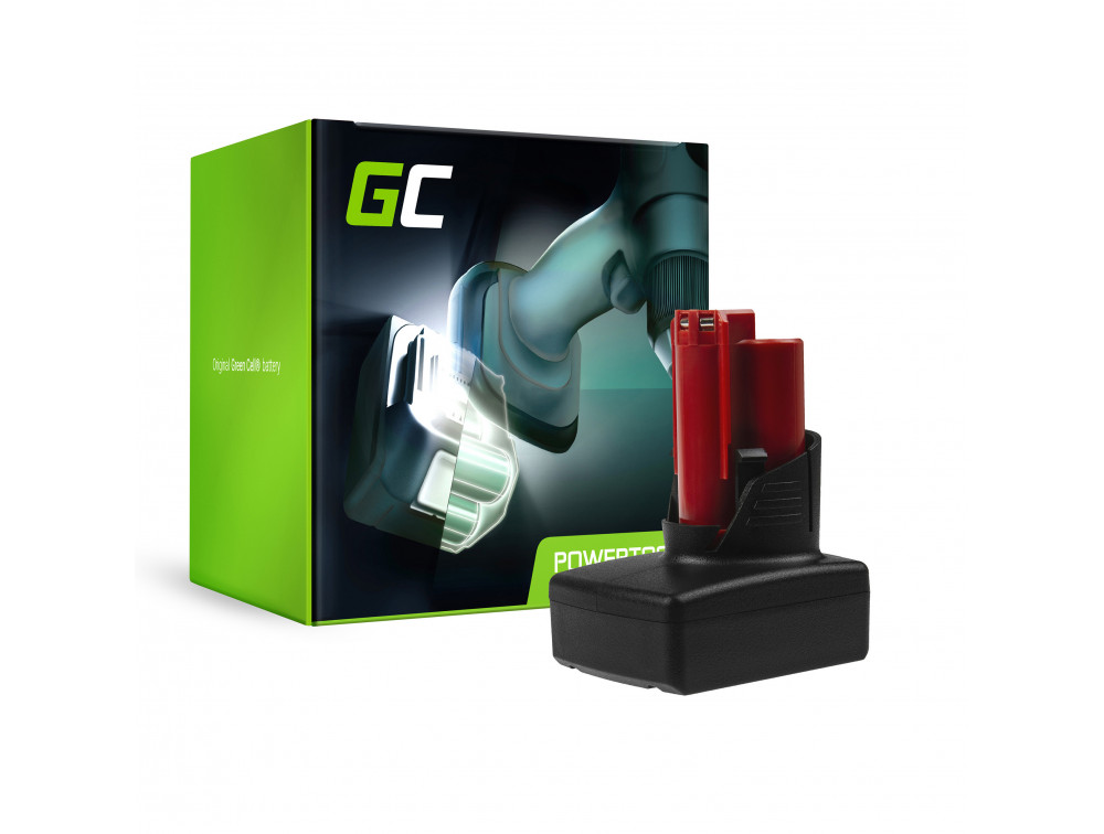 Green Cell szerszám akkumuláto C12 M12 B2 B3 B4 B6 Lithium Milwaukee