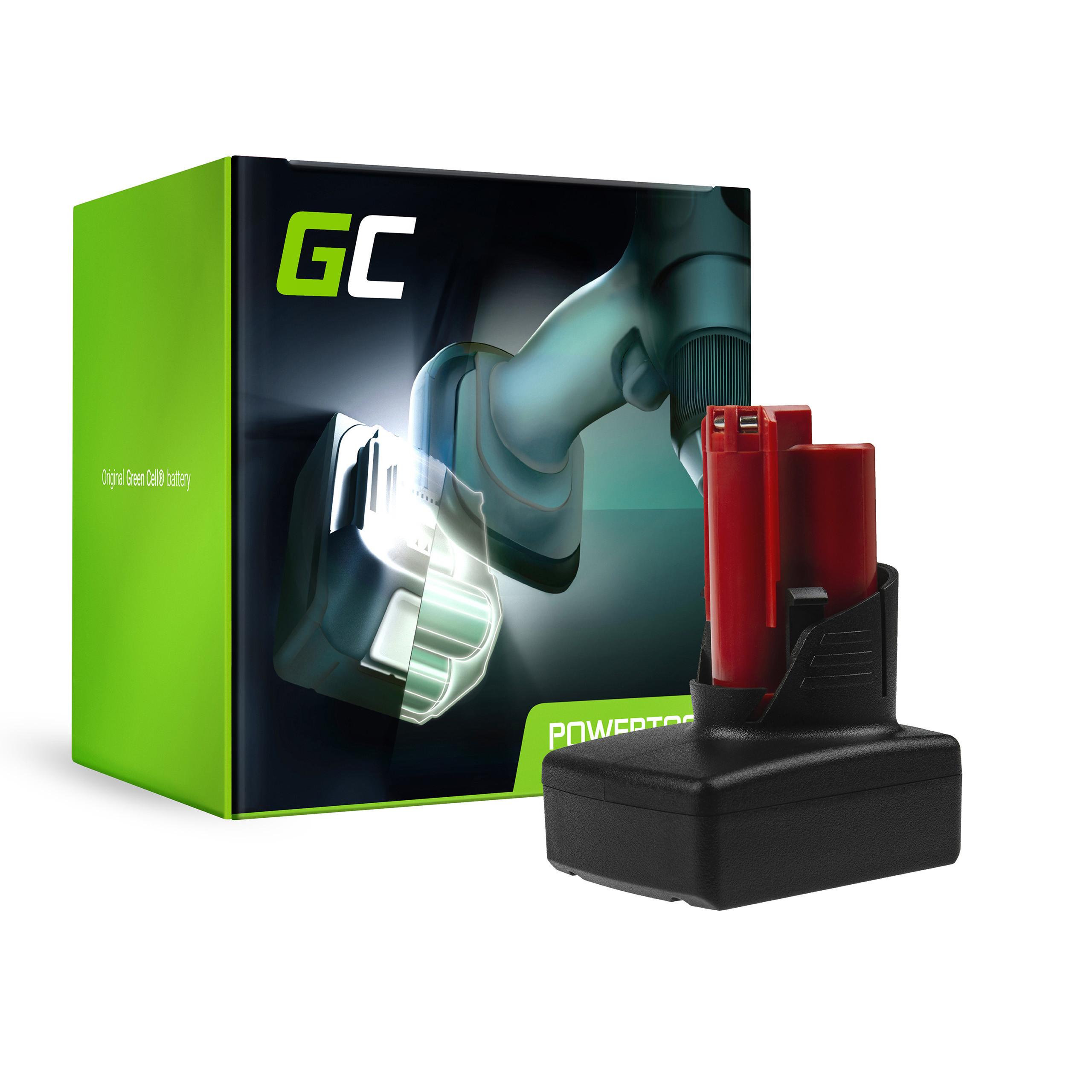 Baterie Green Cell Milwaukee C12 M12 B2 B3 B4 B6 BPD-0 BDD-202C BSD-0 C12 M12FID M12CDD 12V 3000mAh Li-ion - neoriginální