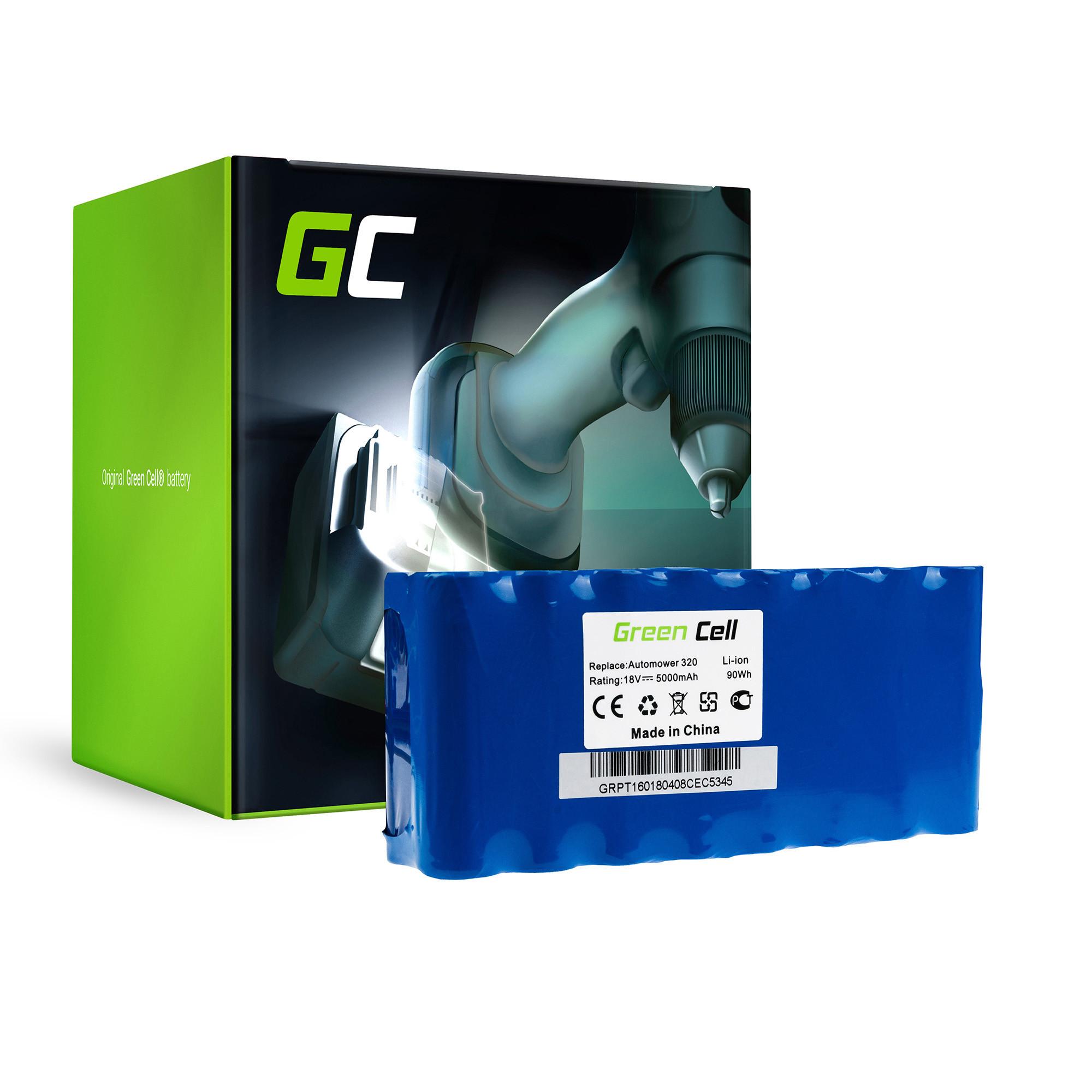 Baterie Green Cell Husqvarna Automower 320   Husqvarna Automower 330X  H usqvarna Automower 430 18V 5000mAh Li-ion - neoriginální