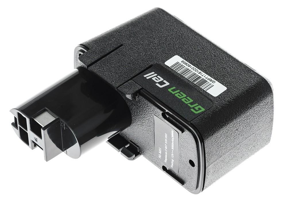 Baterie Green Cell Bosch 3300K PSR 12VE-2 GSB 12 VSE-2 12V 3000mAh Ni-MH – neoriginální