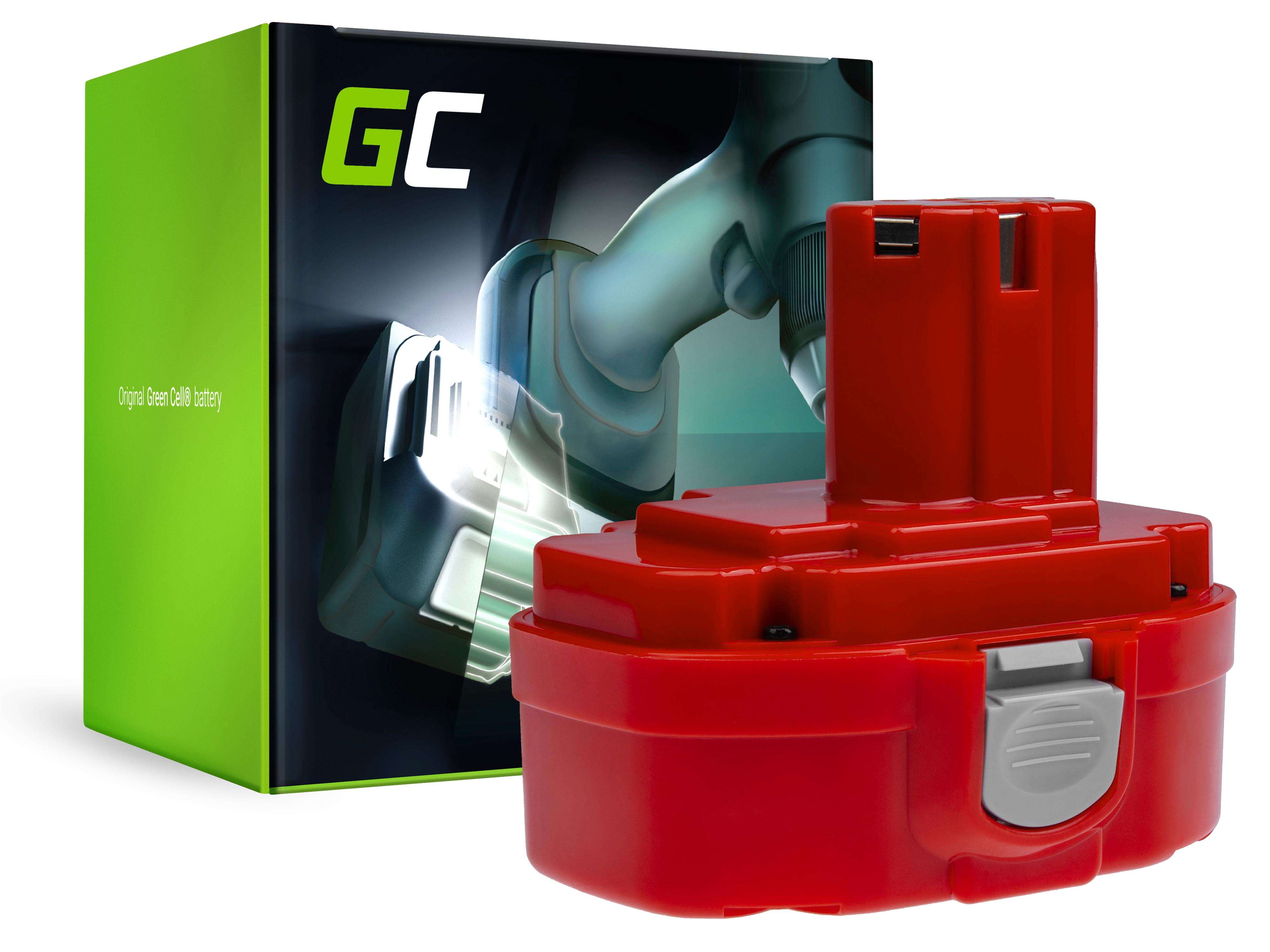 Baterie Green Cell Makita 1822 1833 PA18 Makita 4334D 6343D 6347D 6349D 6390D 8390D 8391D 18V 1500mAh Ni-MH – neoriginální