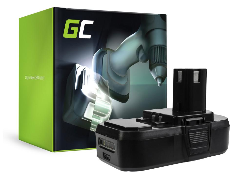 Green Cell Power Tool akkumulátor ONE + RB18L50 RB18L15 RYOBI R18AG0 R18JS0 R18PDBL RCD18022L RID1801M RMT1801M