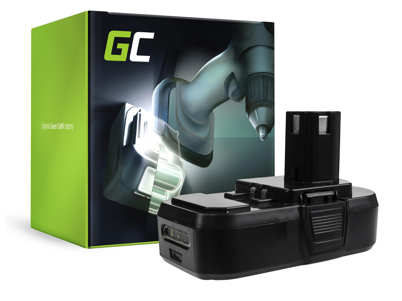 Baterie Green Cell Ryobi ONE+ RB18L50 RB18L15 R18AG0 R18JS0 R18PDBL RCD18022L RID1801M RMT1801M 18V 1500mAh Li-ion - neoriginální