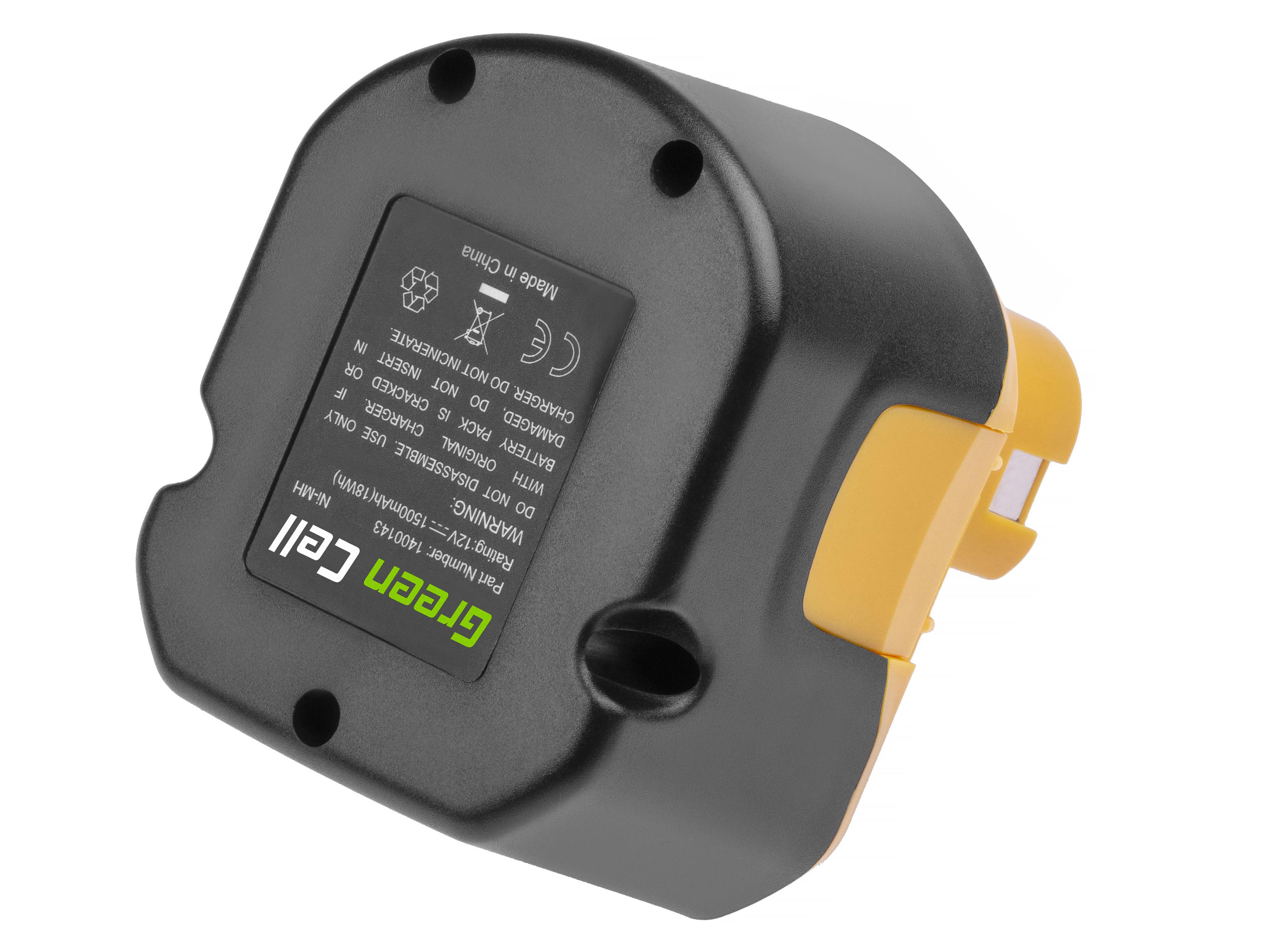 Baterie Green Cell Ryobi B1222H B1230H BPT1025 Ryobi BD120 BD121 BD122 BID1211 BID1260 SA1202 12V 1500mAh Ni-MH – neoriginální