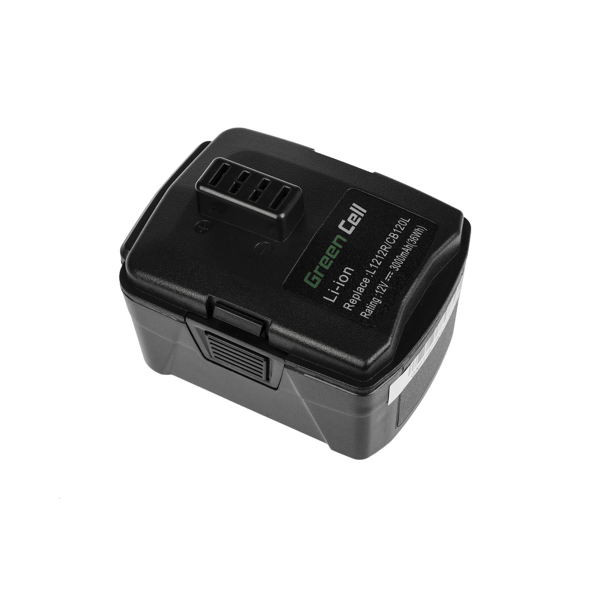 Baterie Green Cell Baterie Ryobi BID1201 CD100 CR1201 HJP001 HJP002 HJP003 HJP004 CB120L BPL-1220 12V 3000mAh Li-ion - neoriginální