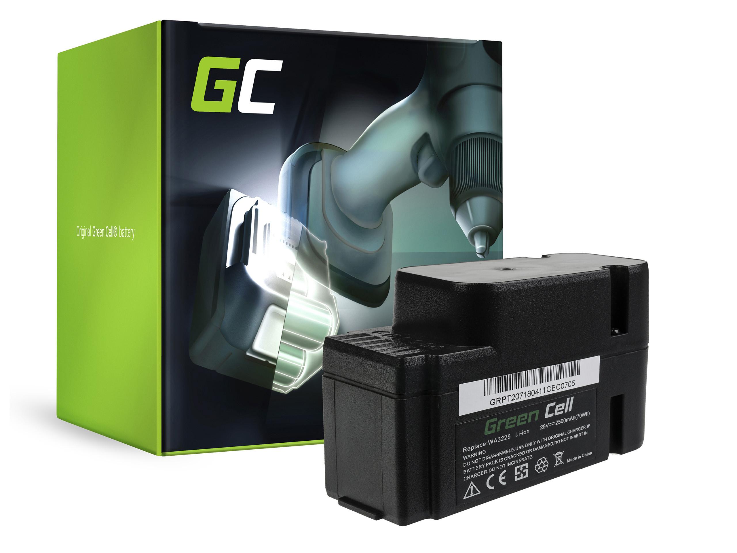 Baterie Green Cell Worx WA3225 WA3565 Landroid M800 M100 L1500 L2000 WG790 WG791 WG792 WG794 WG796 WG797 2500mAh Li-ion