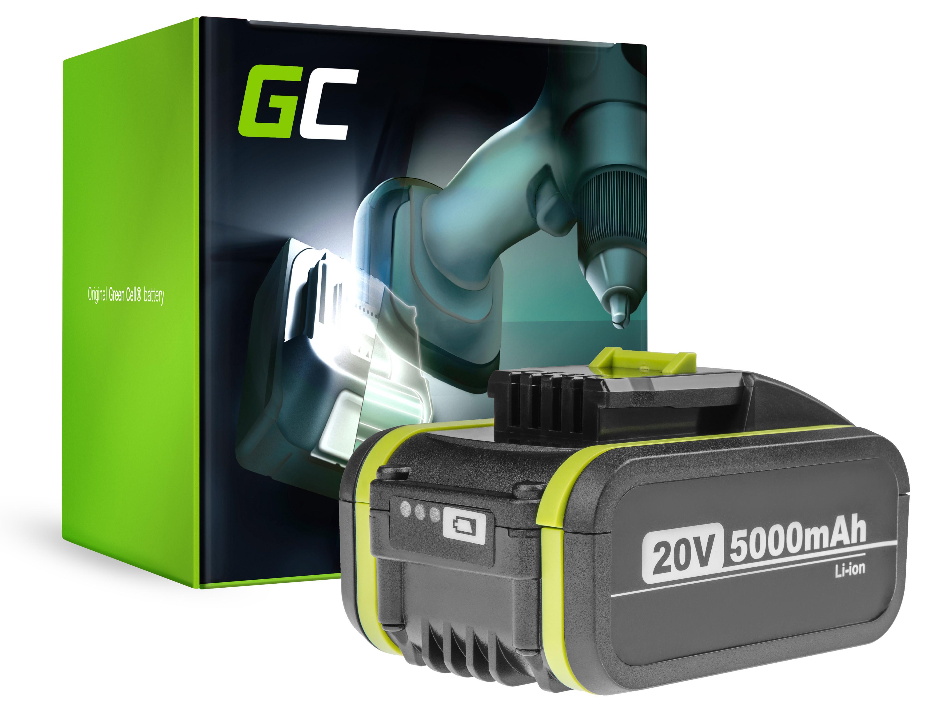 Baterie Green Cell WORX WG160E WG169E WG546E WG549E WG894E WX090 WX166 WX167 WX292 WX372 WX390 20V 5000mAh Li-ion - neoriginální