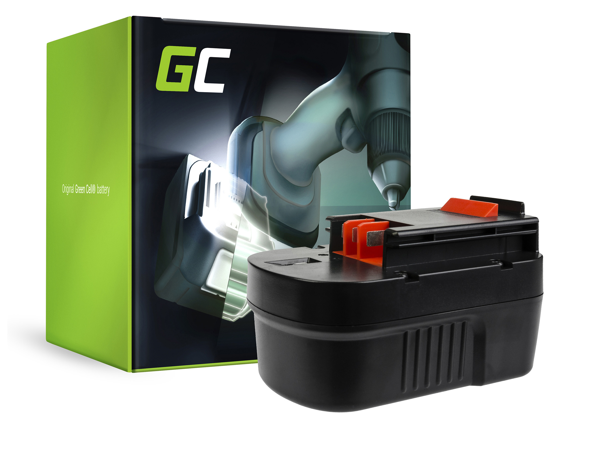 Baterie Green Cell Baterie Black&Decker CP14K EPC14 EPC14CA HP142K XTC143 FS1400 FS14PS PS142K A14 14.4V 3000mAh Ni-MH – neoriginální